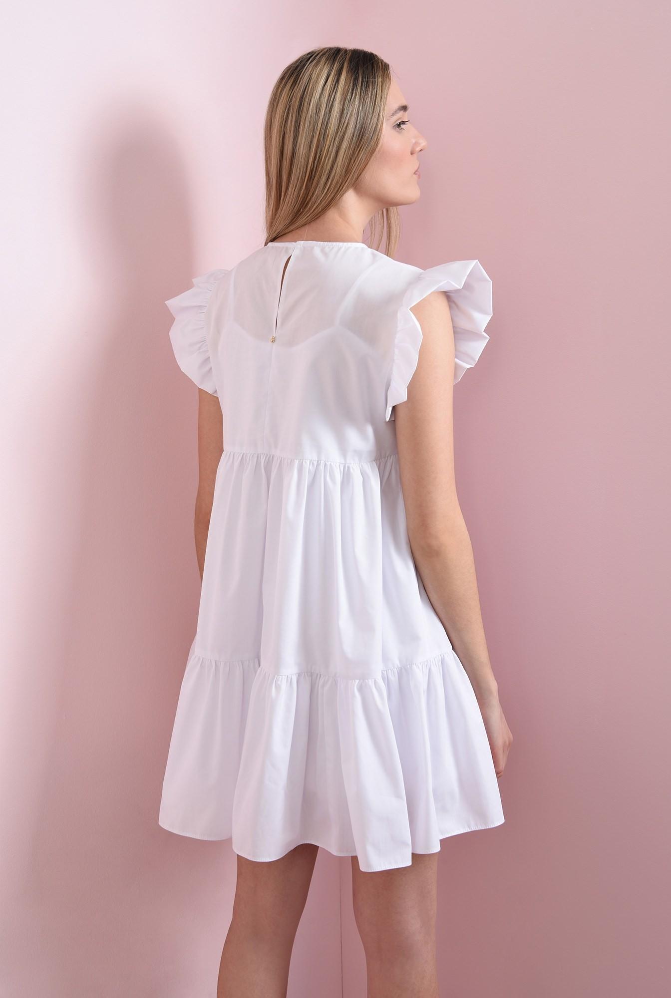 2 - rochie scurta, alba, din bumbac