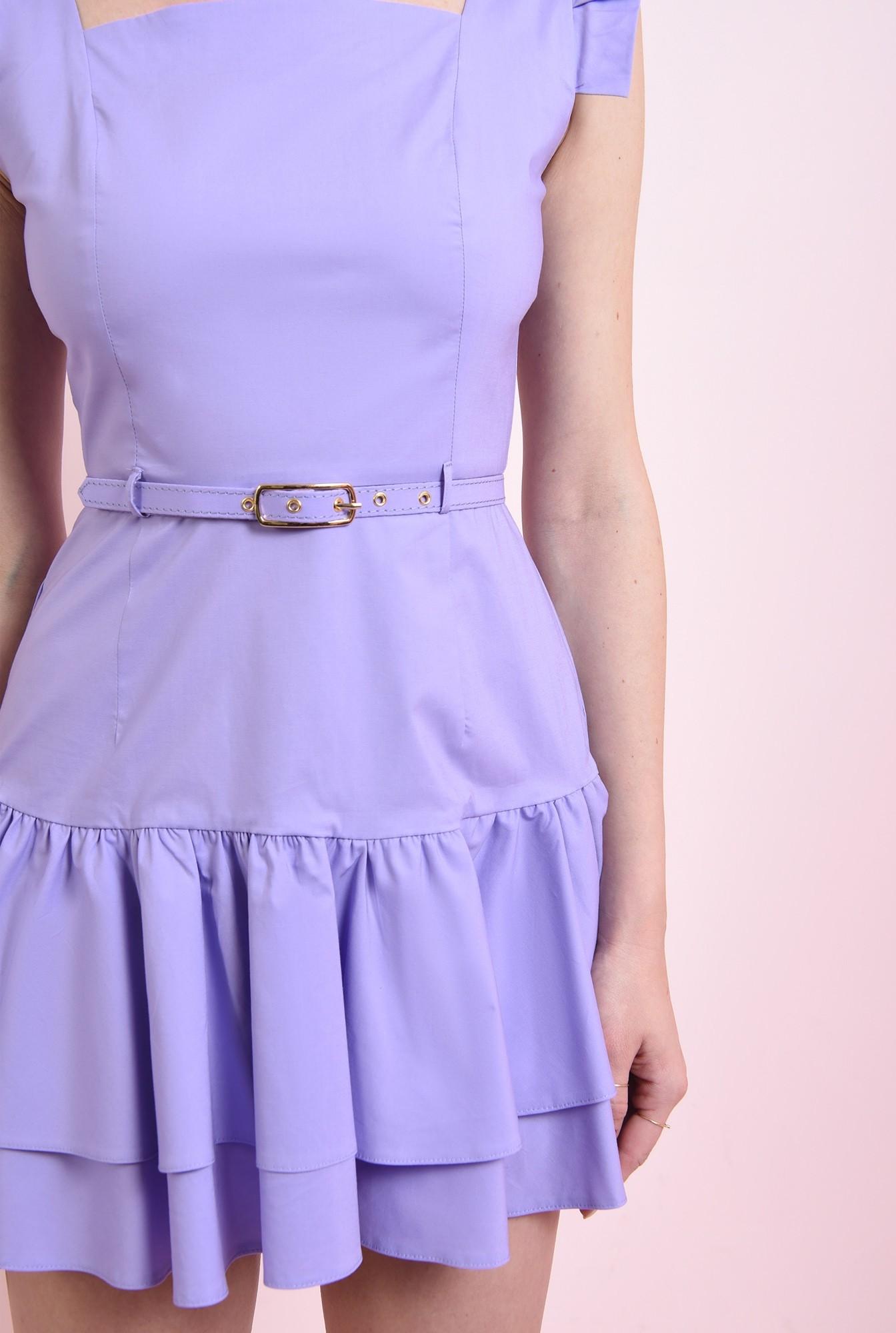 2 - rochie scurta, lila, tip sarafan