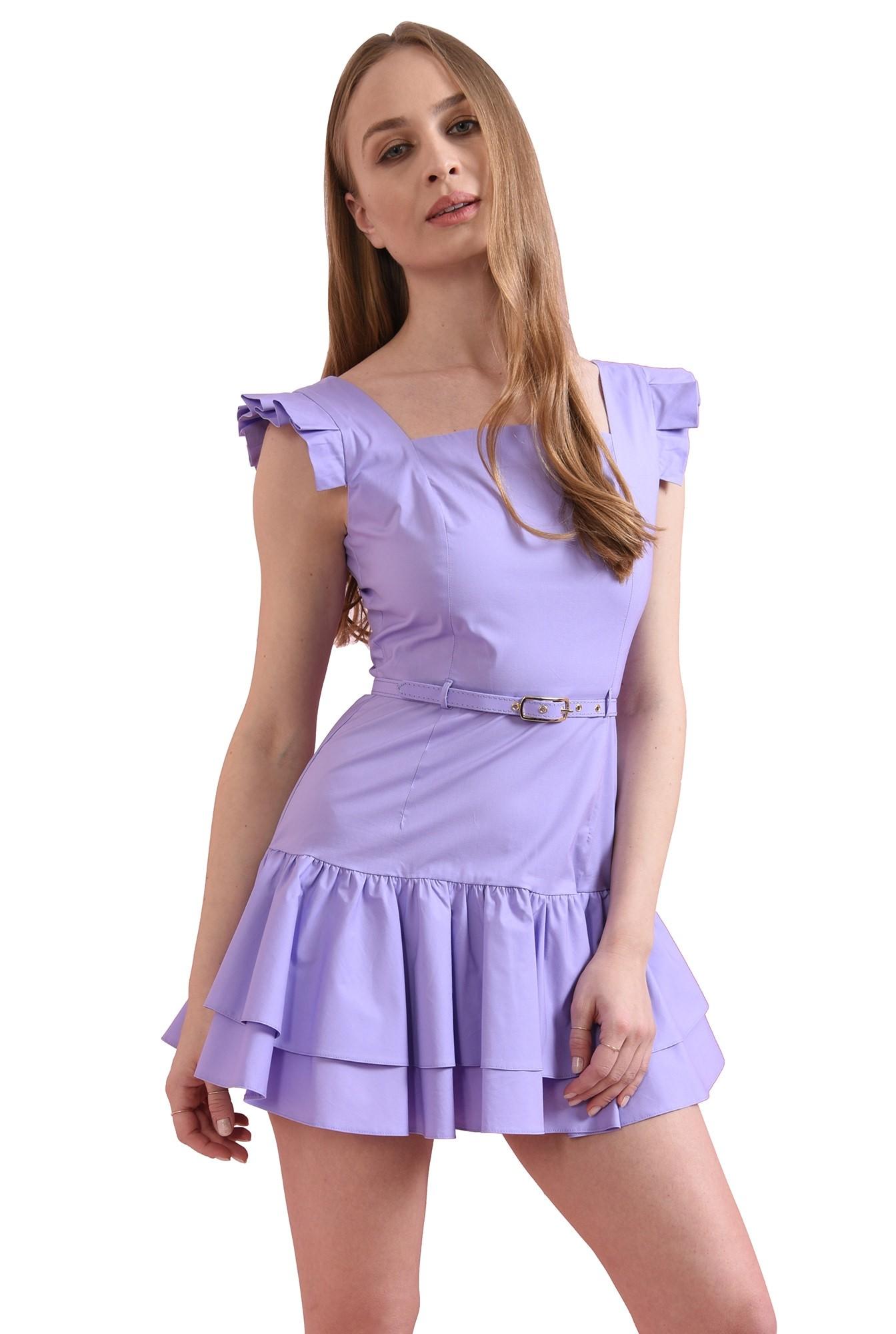 3 - rochie scurta, lila, tip sarafan