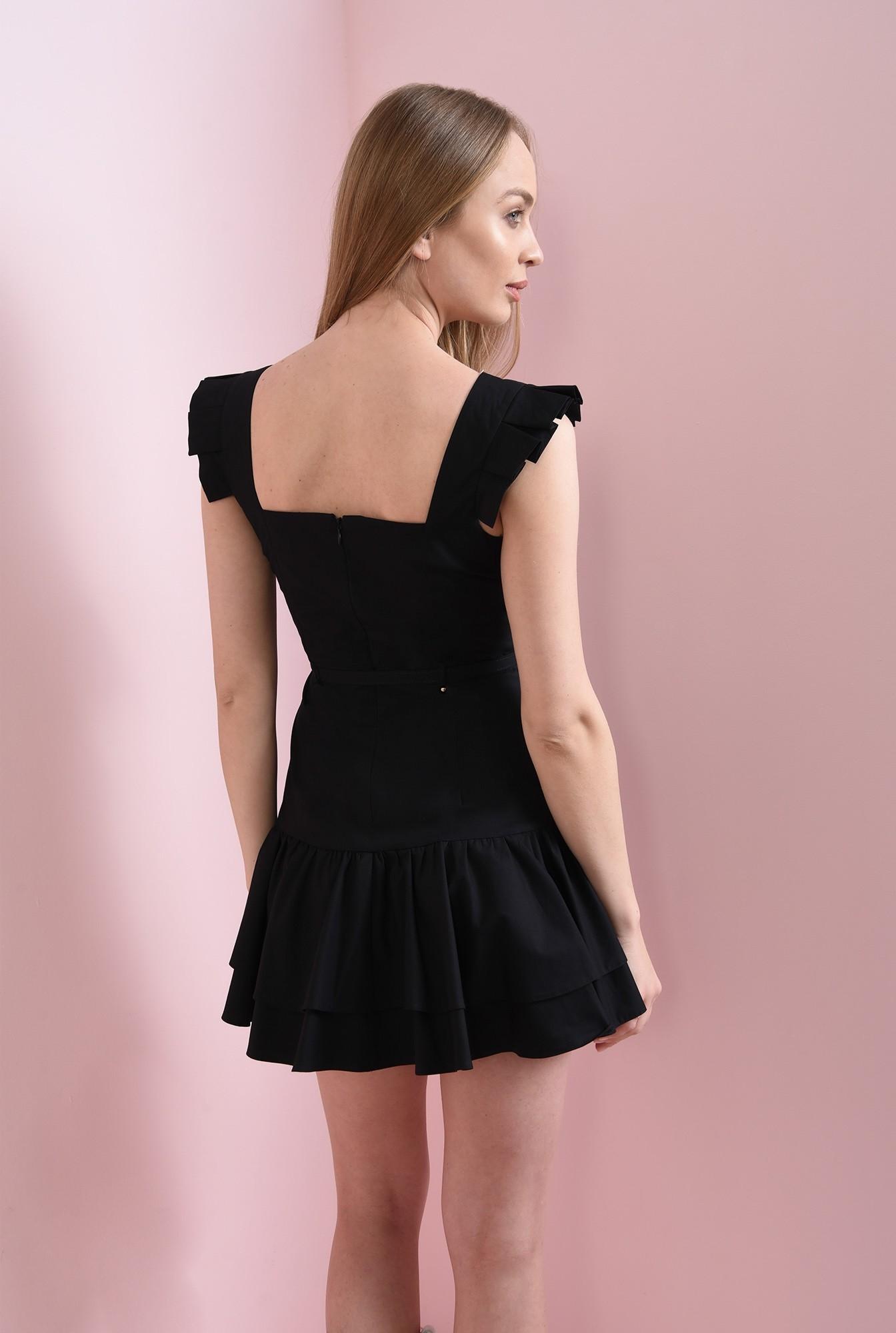 1 - rochie neagra, cu volane, Poema