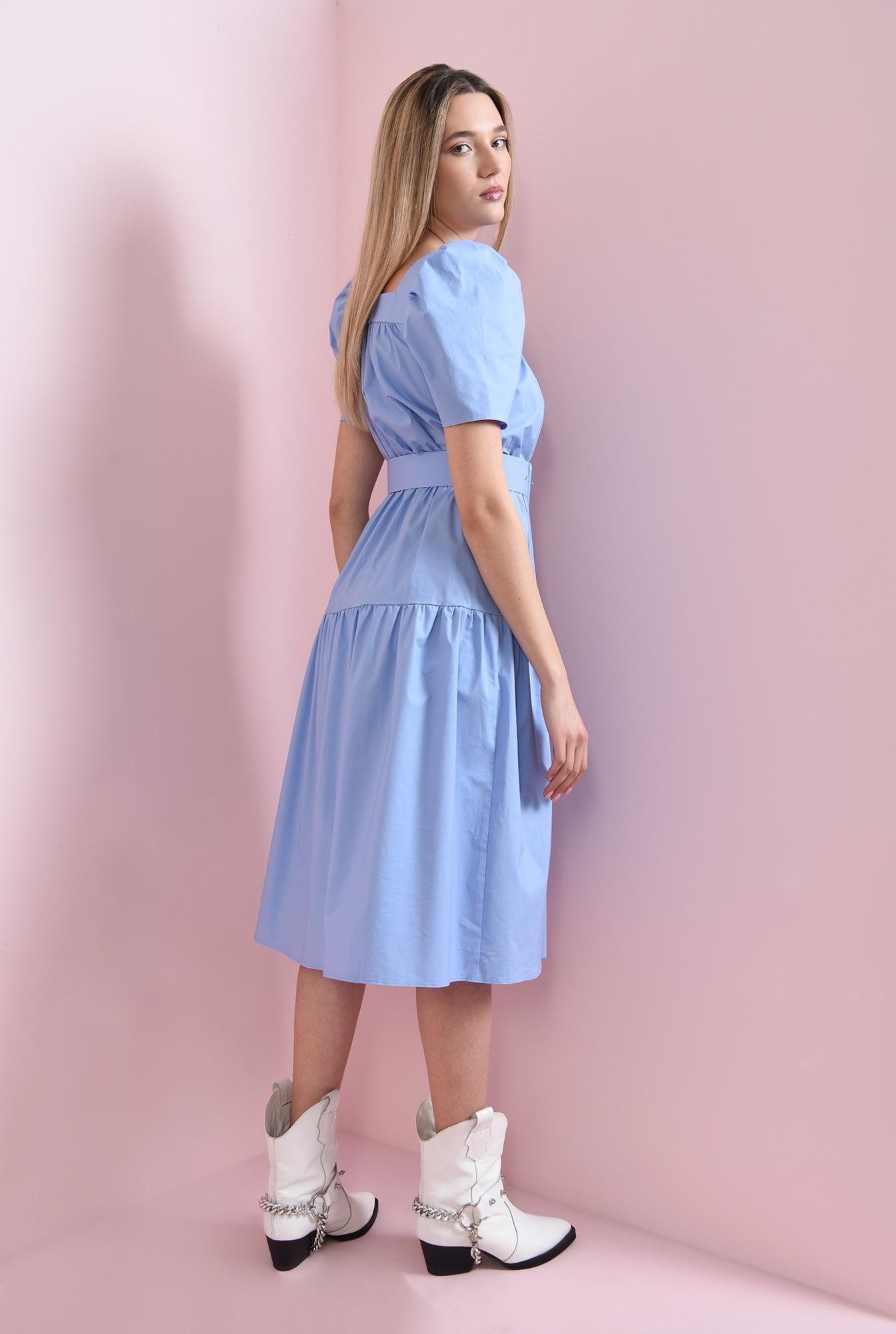 1 - rochie din bumbac, bleu, Poema