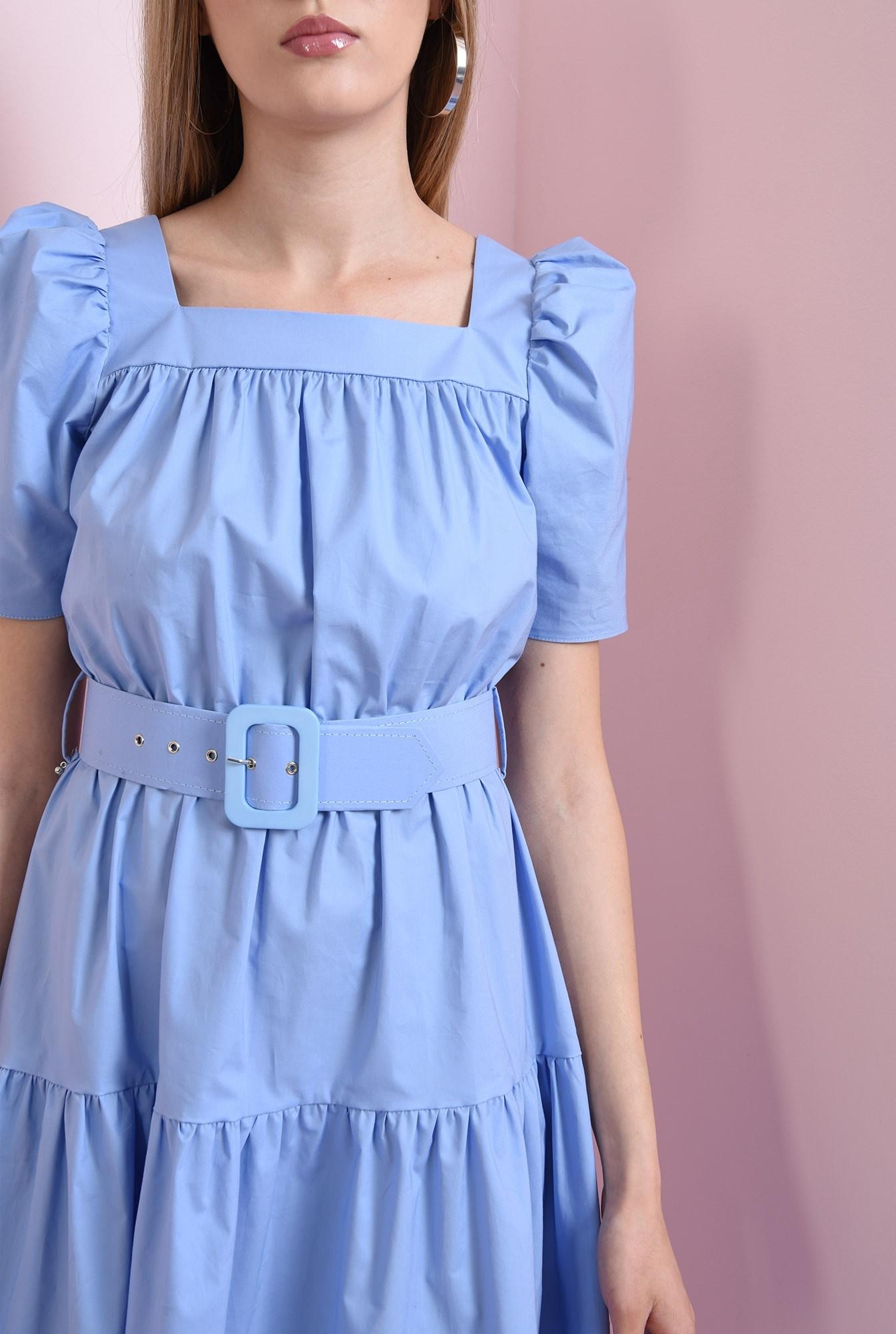 2 - rochie din bumbac, bleu, Poema