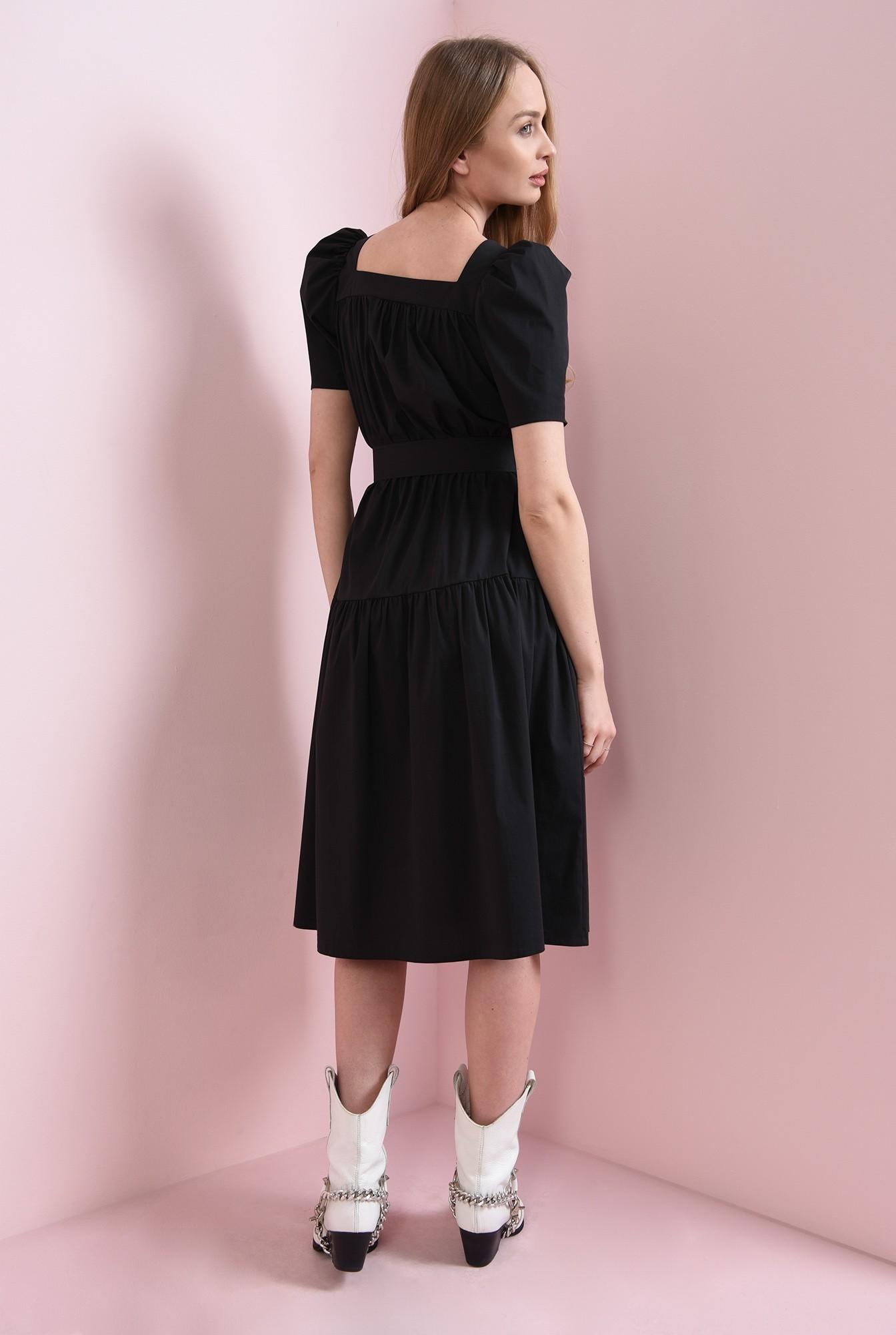 2 - rochie neagra, cu centura, Poema