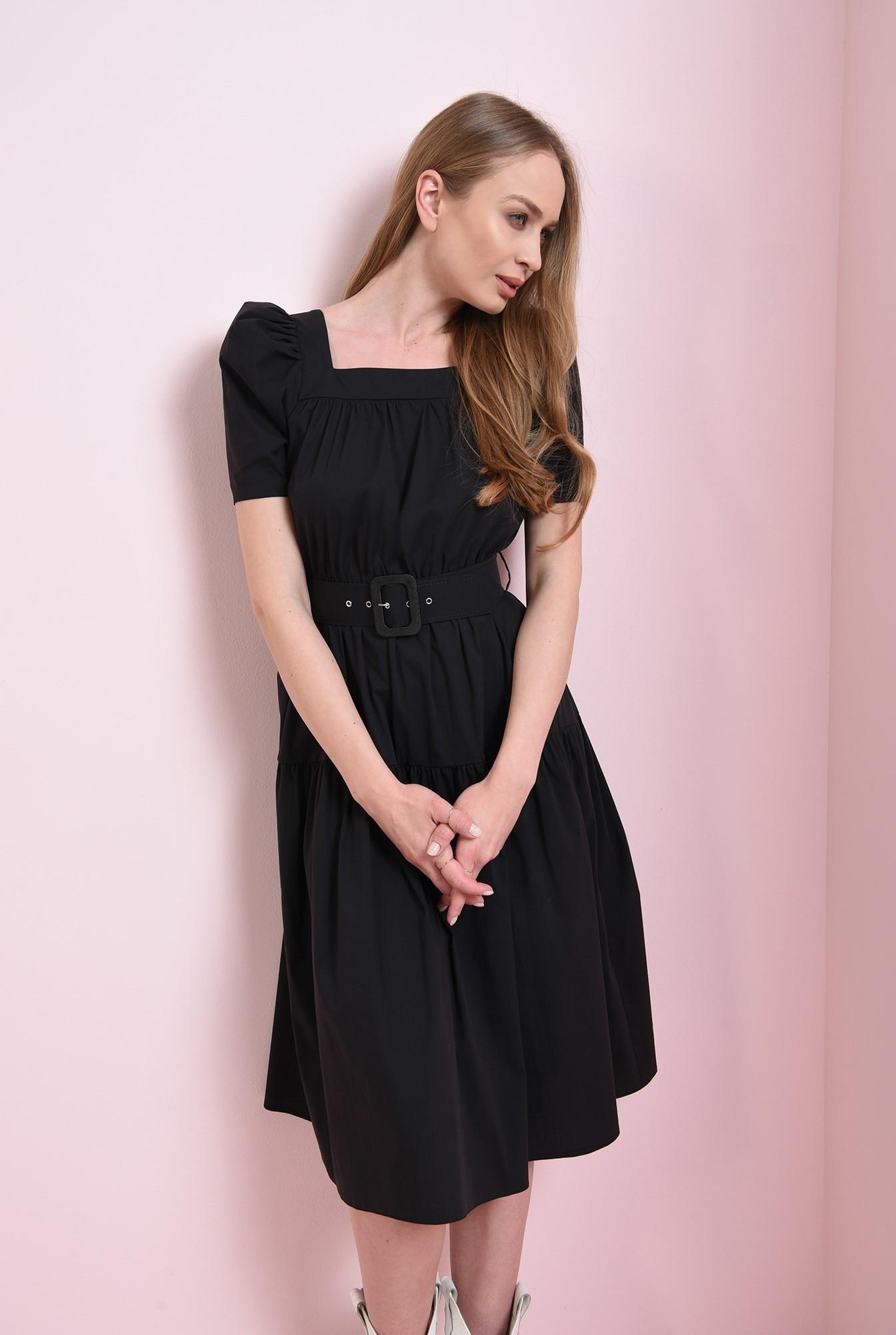 1 - rochie neagra, cu centura, Poema