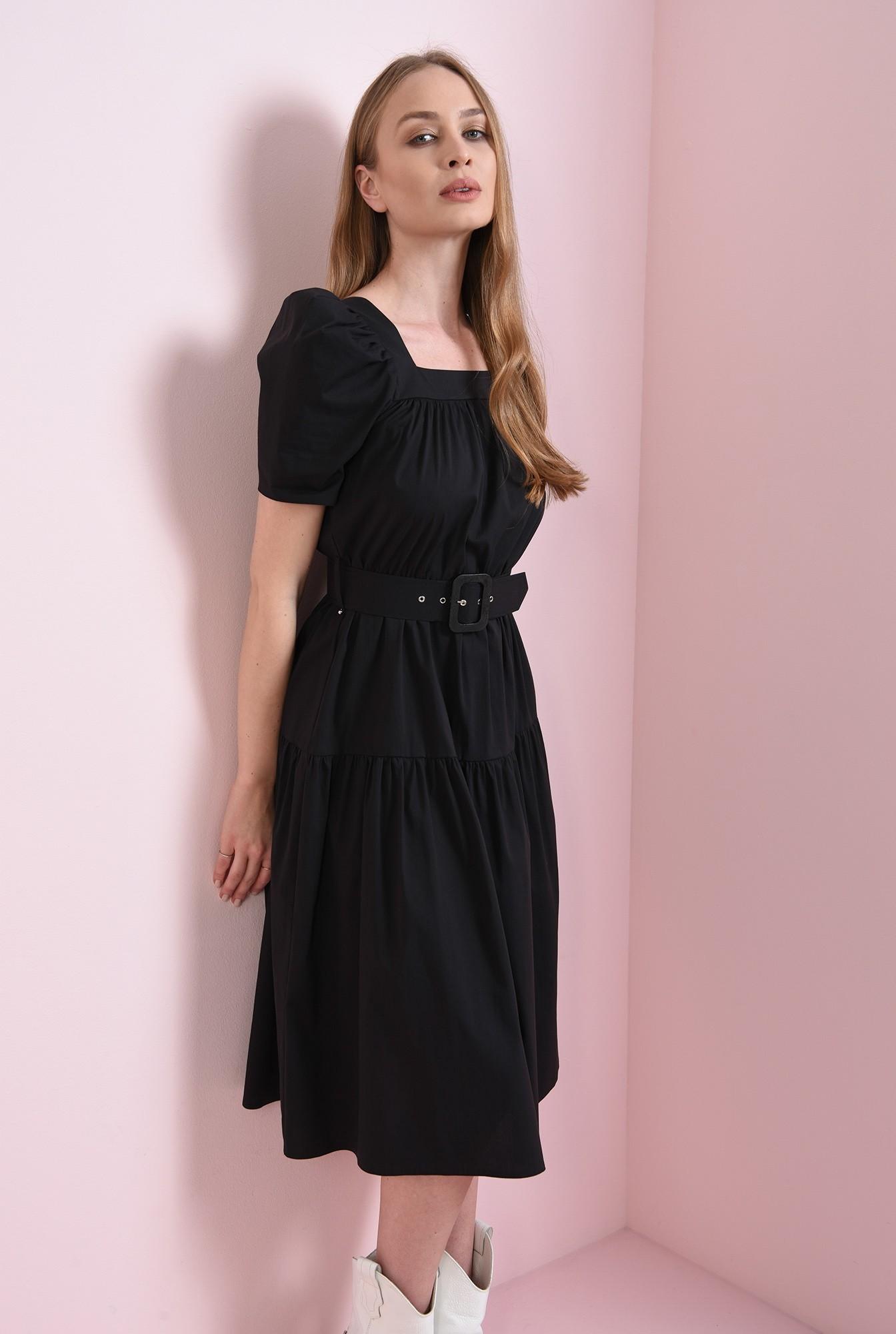 0 - rochie neagra, cu centura, Poema
