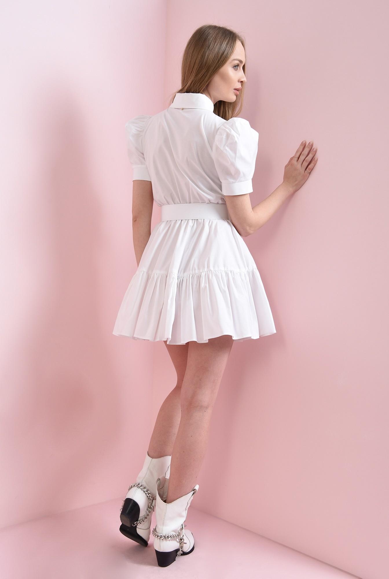 2 - rochie scurta, din bumbac, cu centura