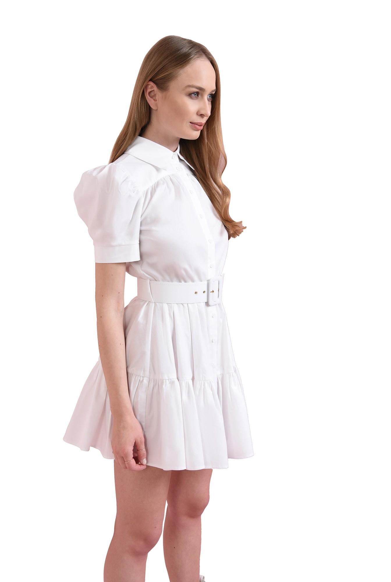 3 - rochie scurta, din bumbac, cu centura