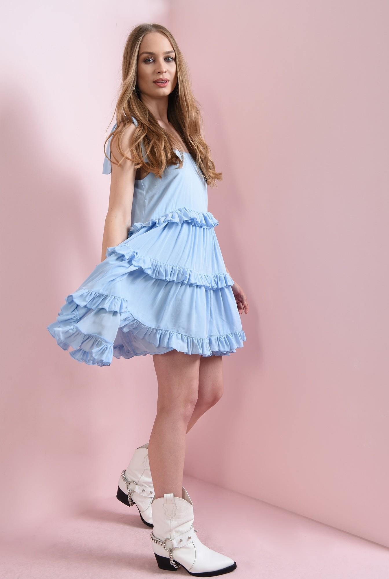 0 - rochie casual, evazata, bleu