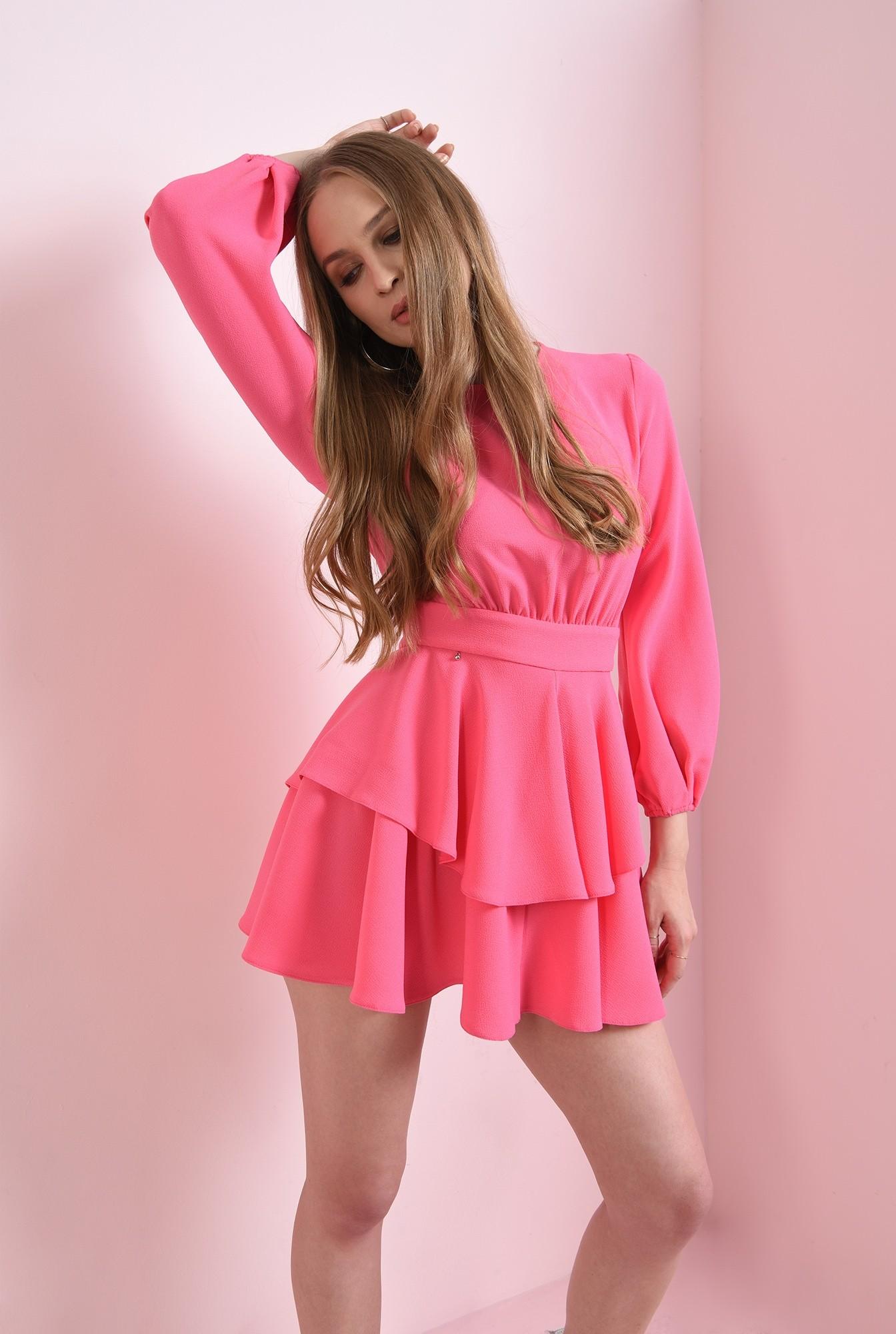 2 - rochie scurta, cu maneca lunga