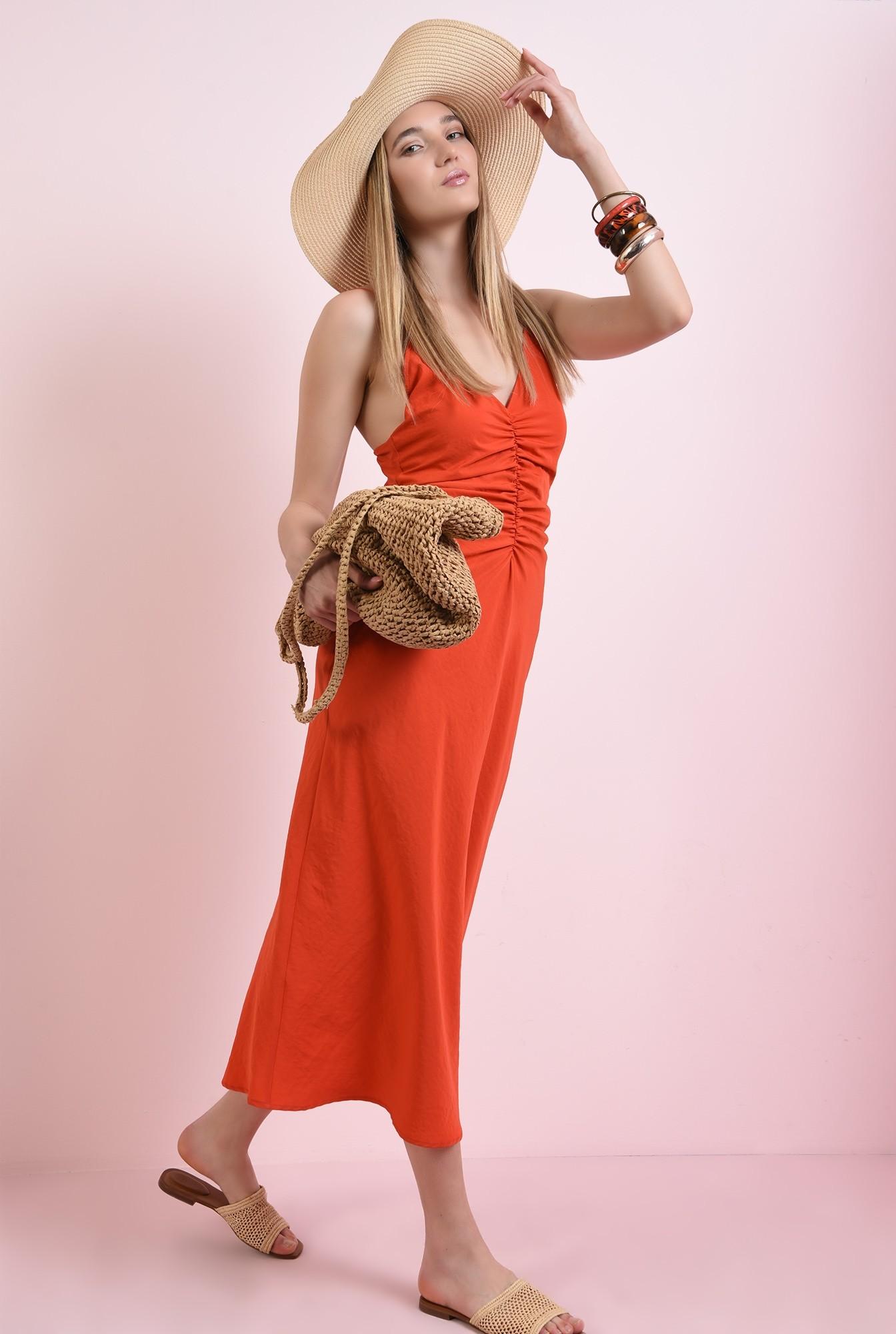 2 - rochie tip furou, rosie, Poema