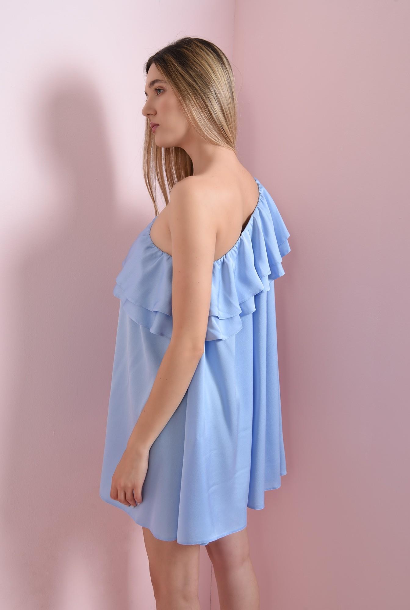 1 - rochie bleu, cu volane, Poema