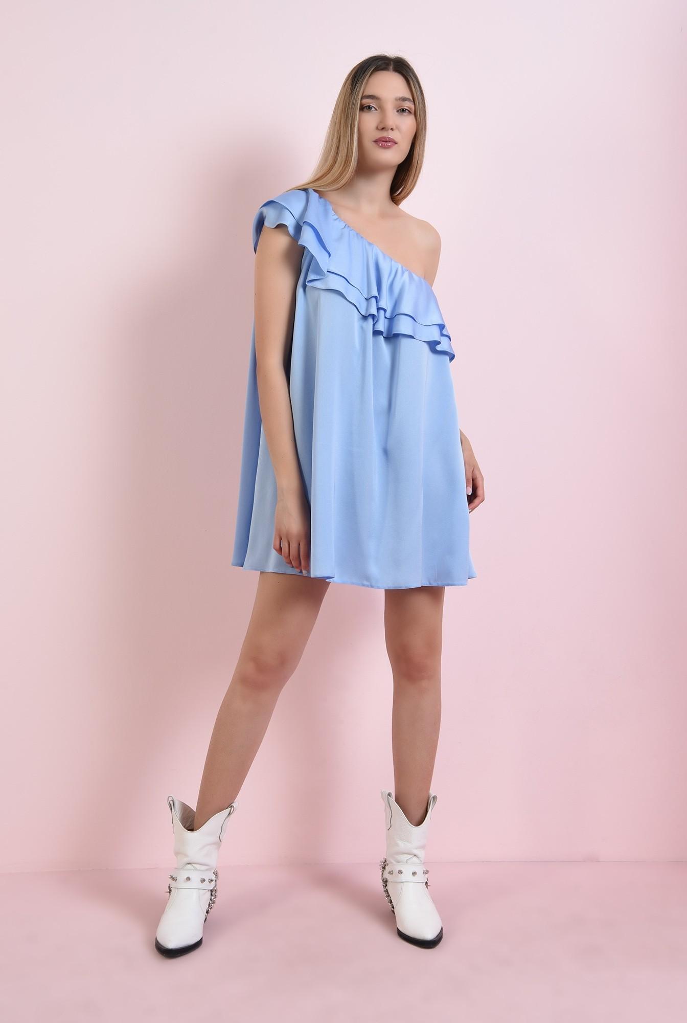 0 - rochie bleu, cu volane, Poema