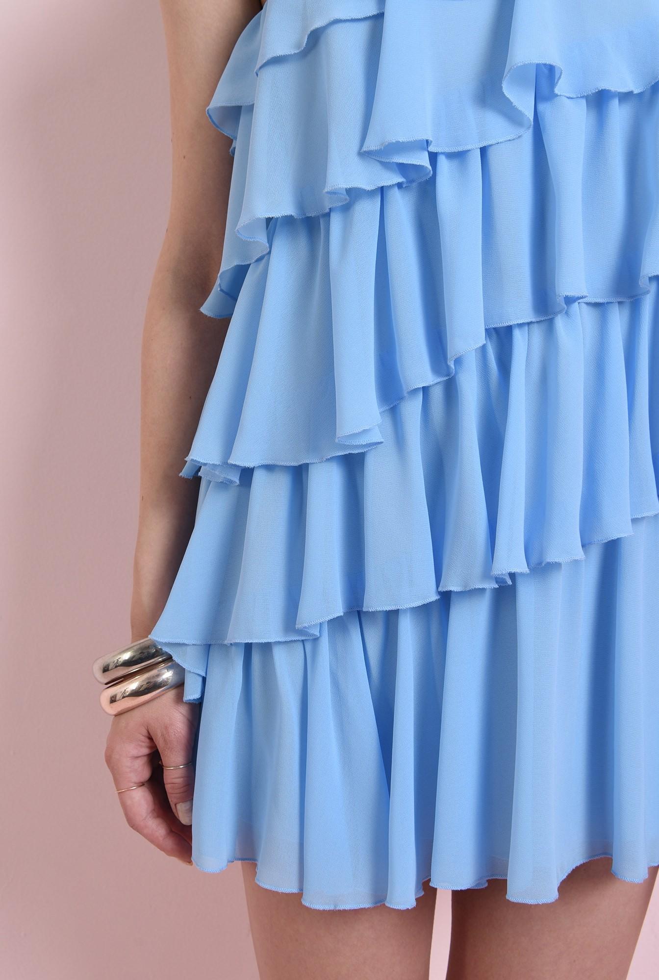 2 - rochie cu volane multiple, bleu