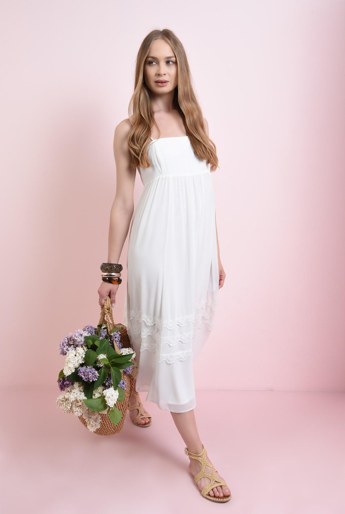 2 - rochie cu detaliu dantela, cu bretele