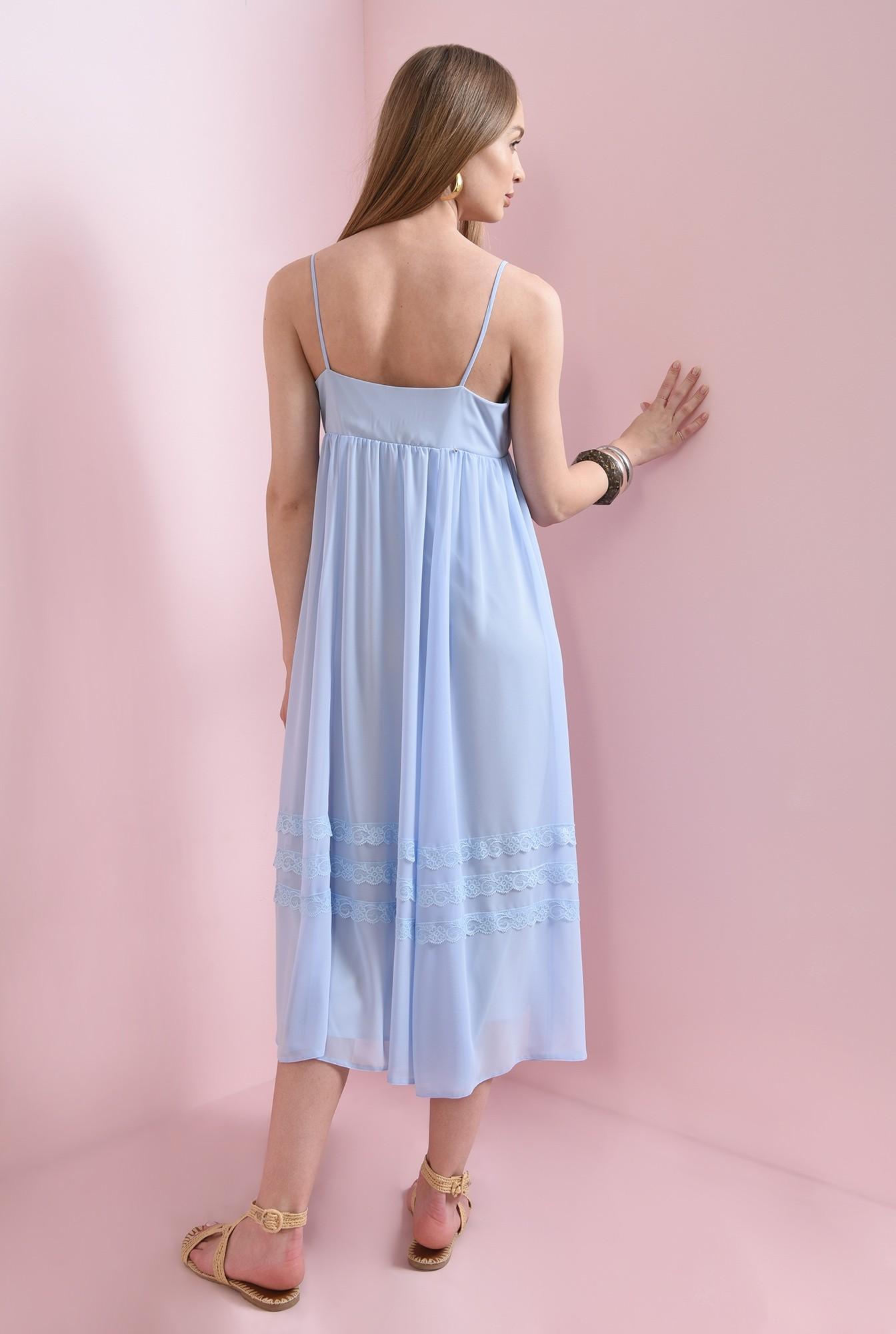 1 - rochie midi, evazata, bleu, Poema
