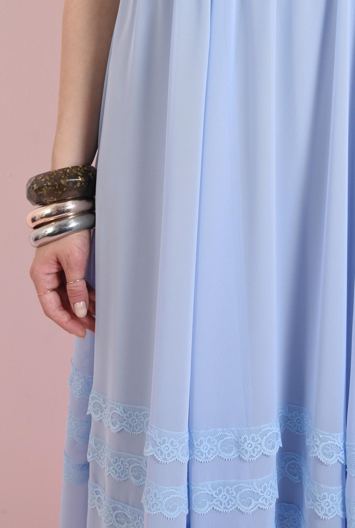 2 - rochie midi, evazata, bleu, Poema