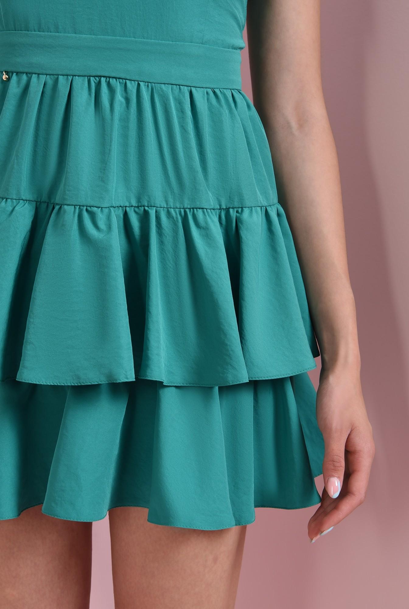 2 - rochie cu volane, verde, Poema