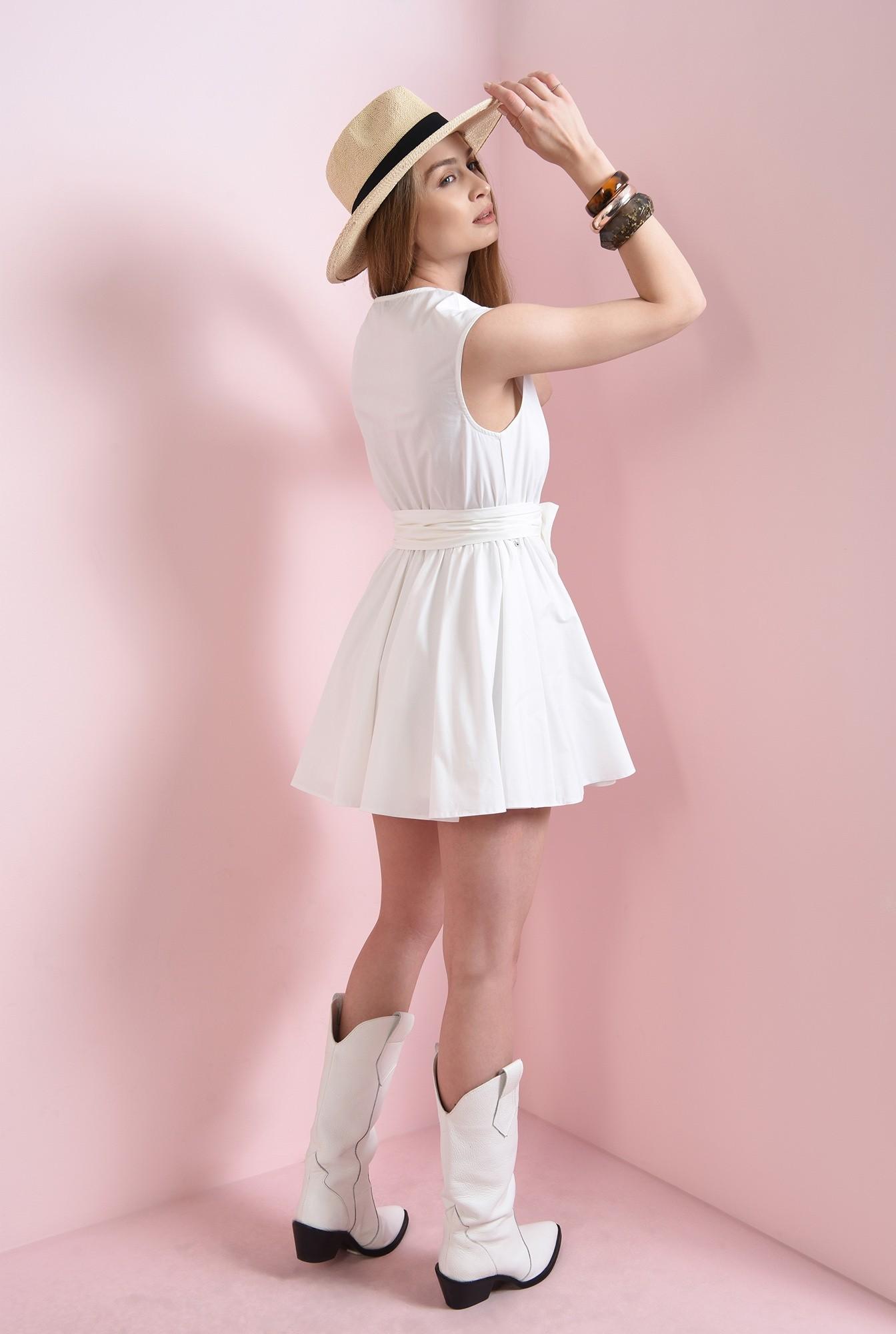 2 - rochie mini, evazata, din bumbac