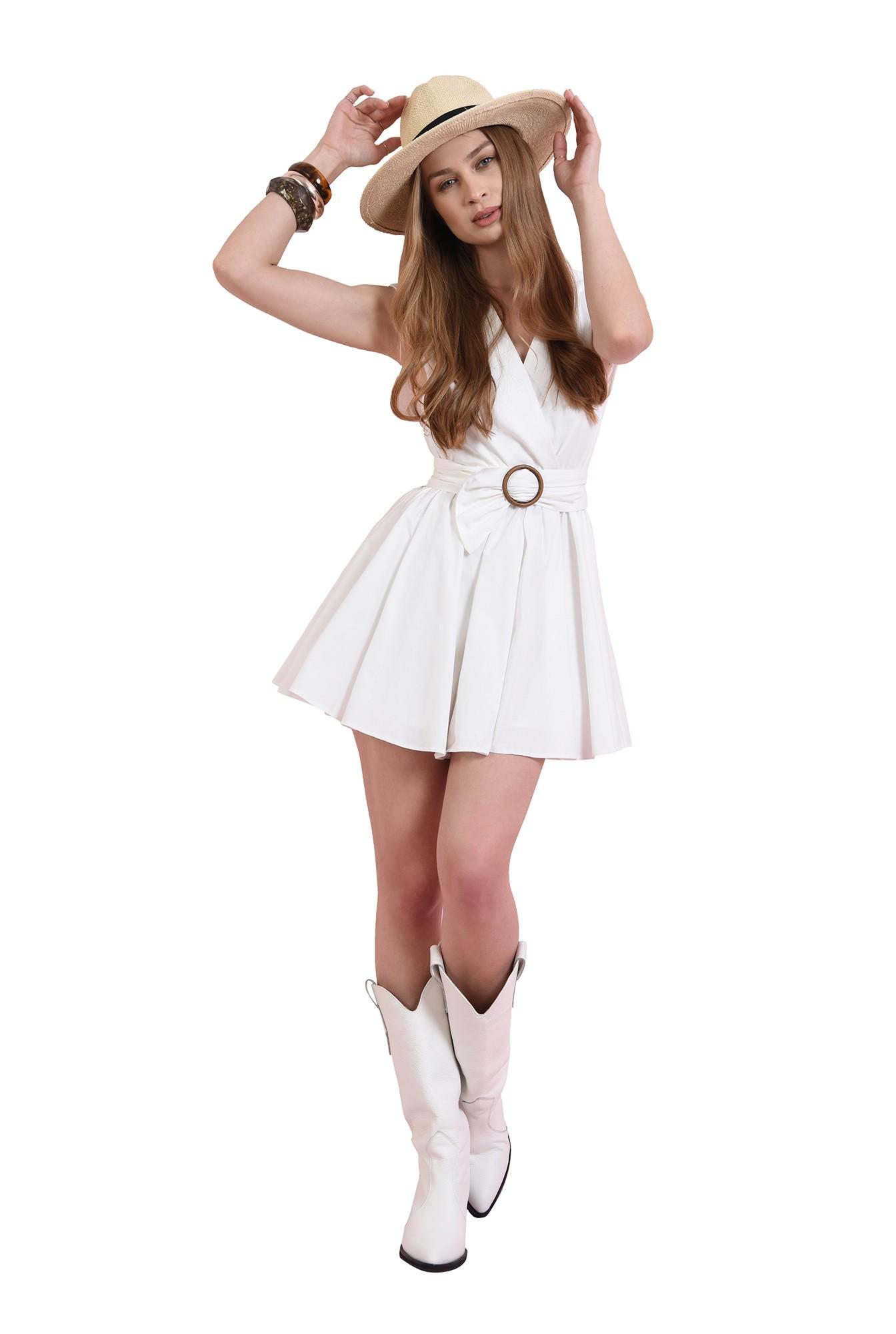 3 - rochie mini, evazata, din bumbac