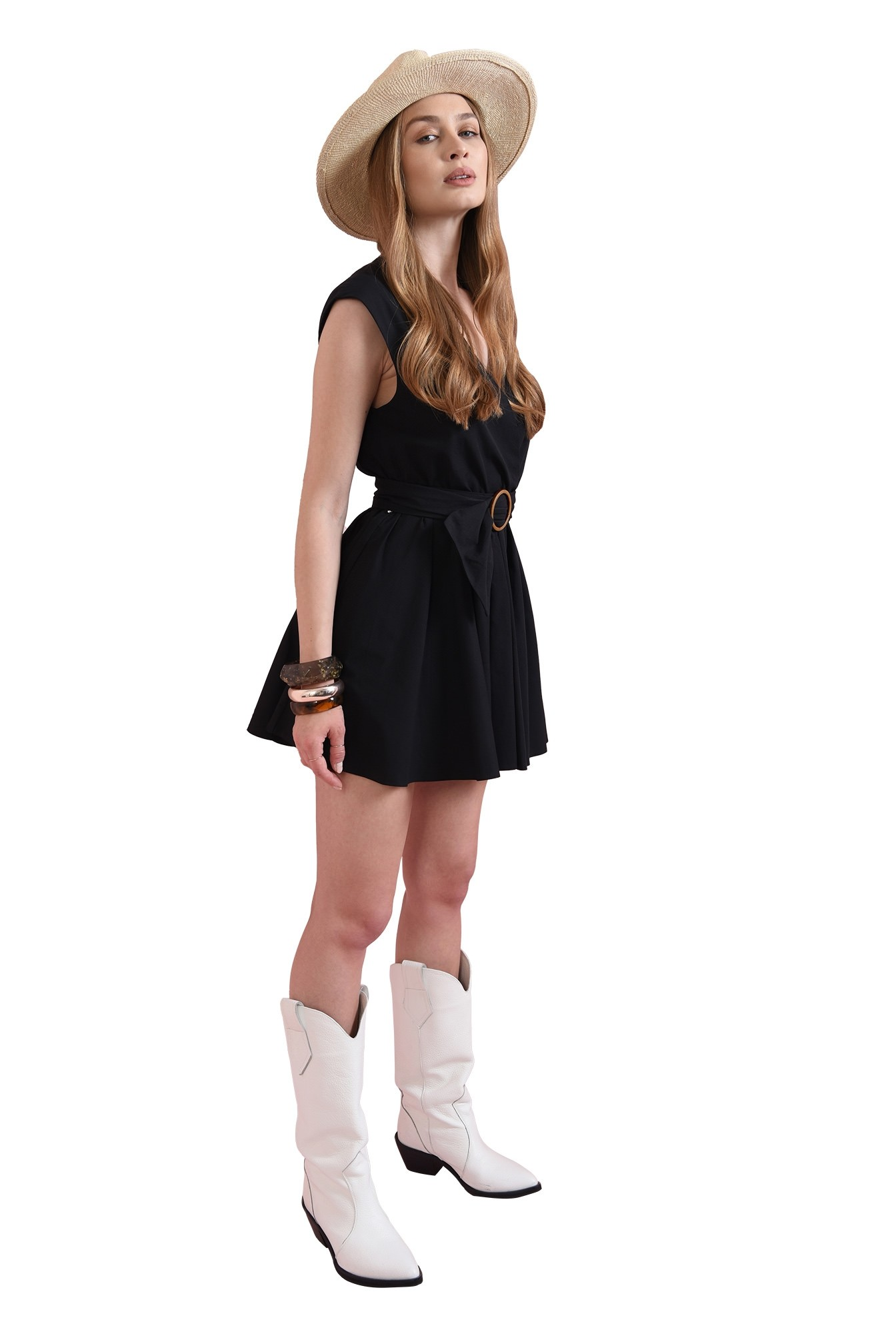 3 - rochie casual, din bumbac, Poema