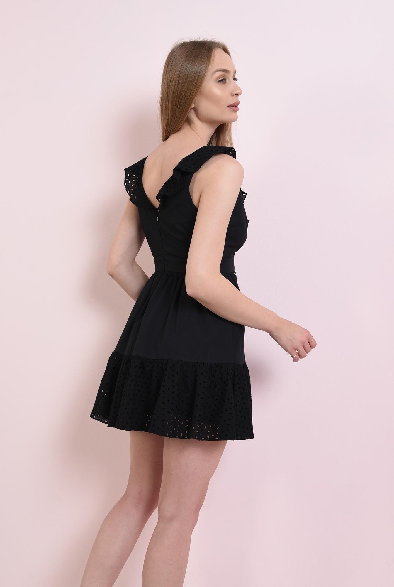 1 - rochie neagra, din bumbac perforat
