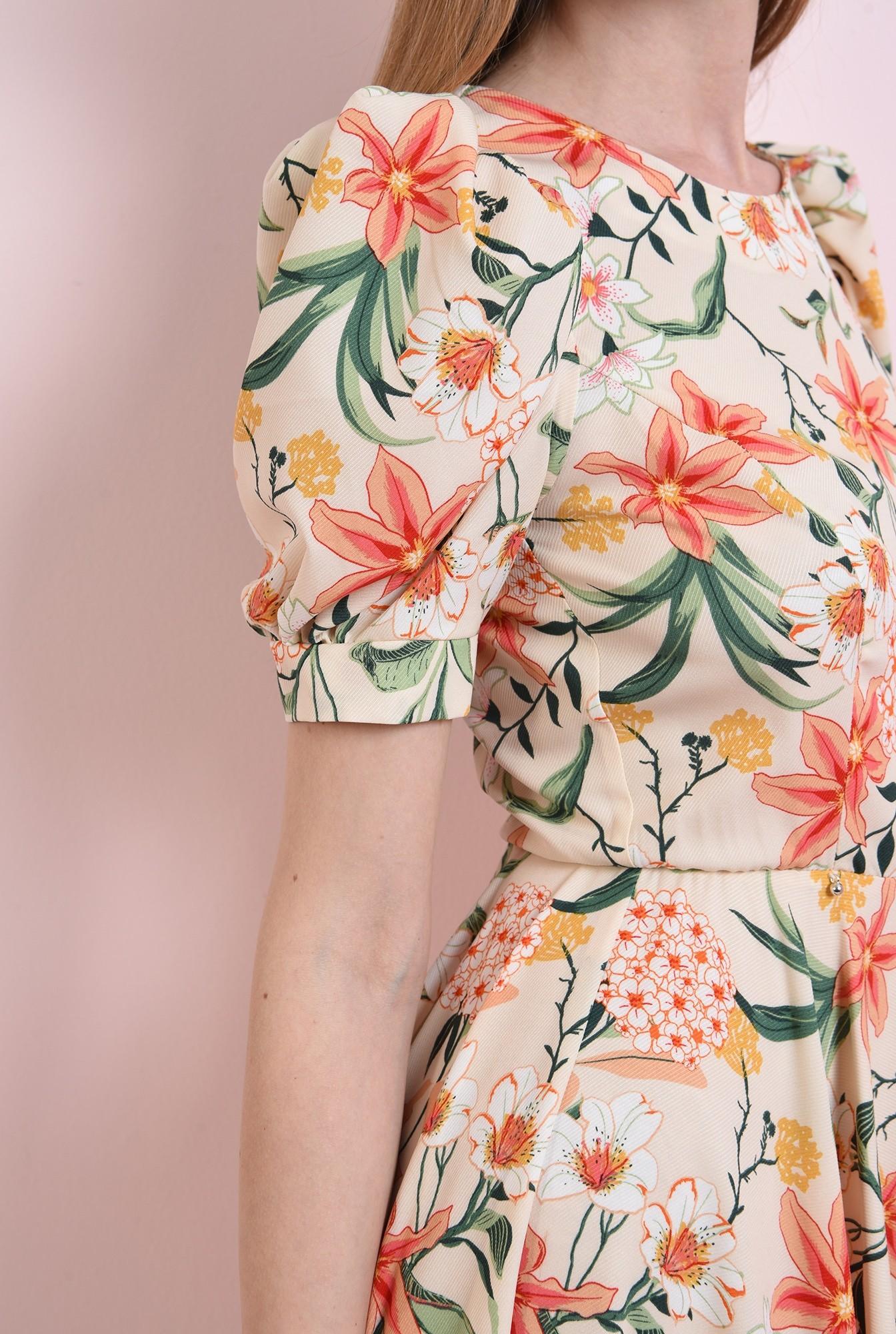 2 - rochie cu print, evazata, Poema