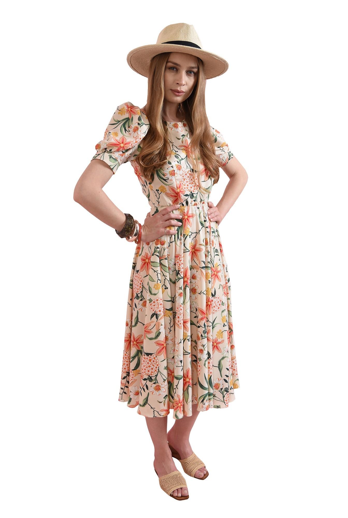 3 - rochie cu print, evazata, Poema