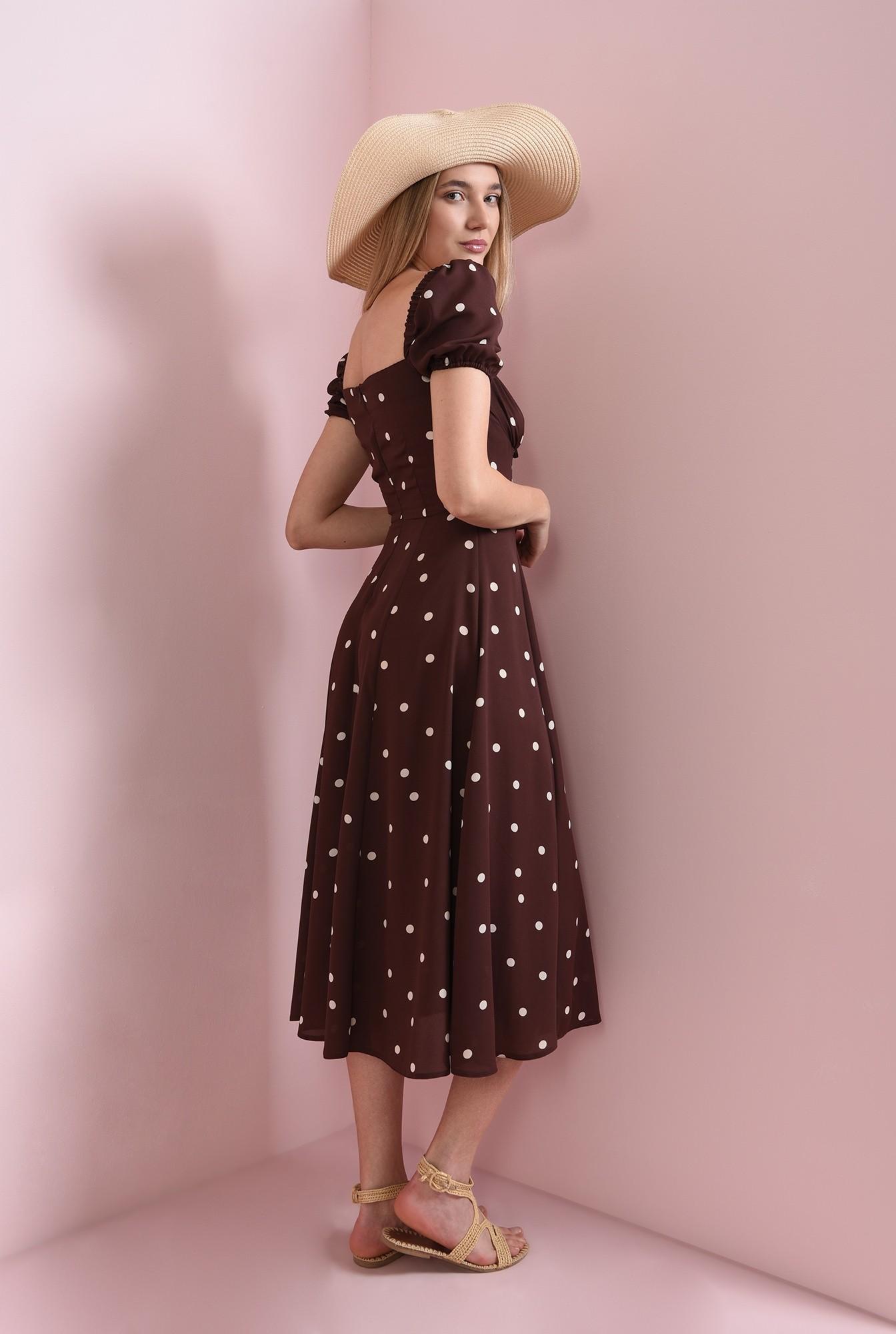 1 - rochie de vara, cu print, cu snur