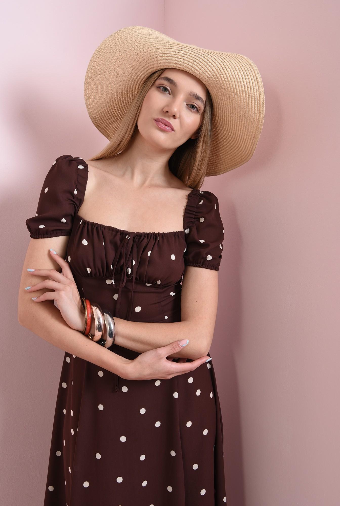 2 - rochie de vara, cu print, cu snur