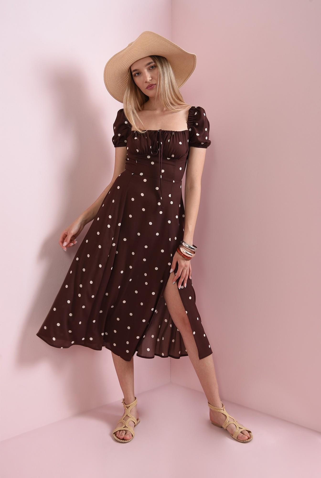 0 - rochie de vara, cu print, cu snur