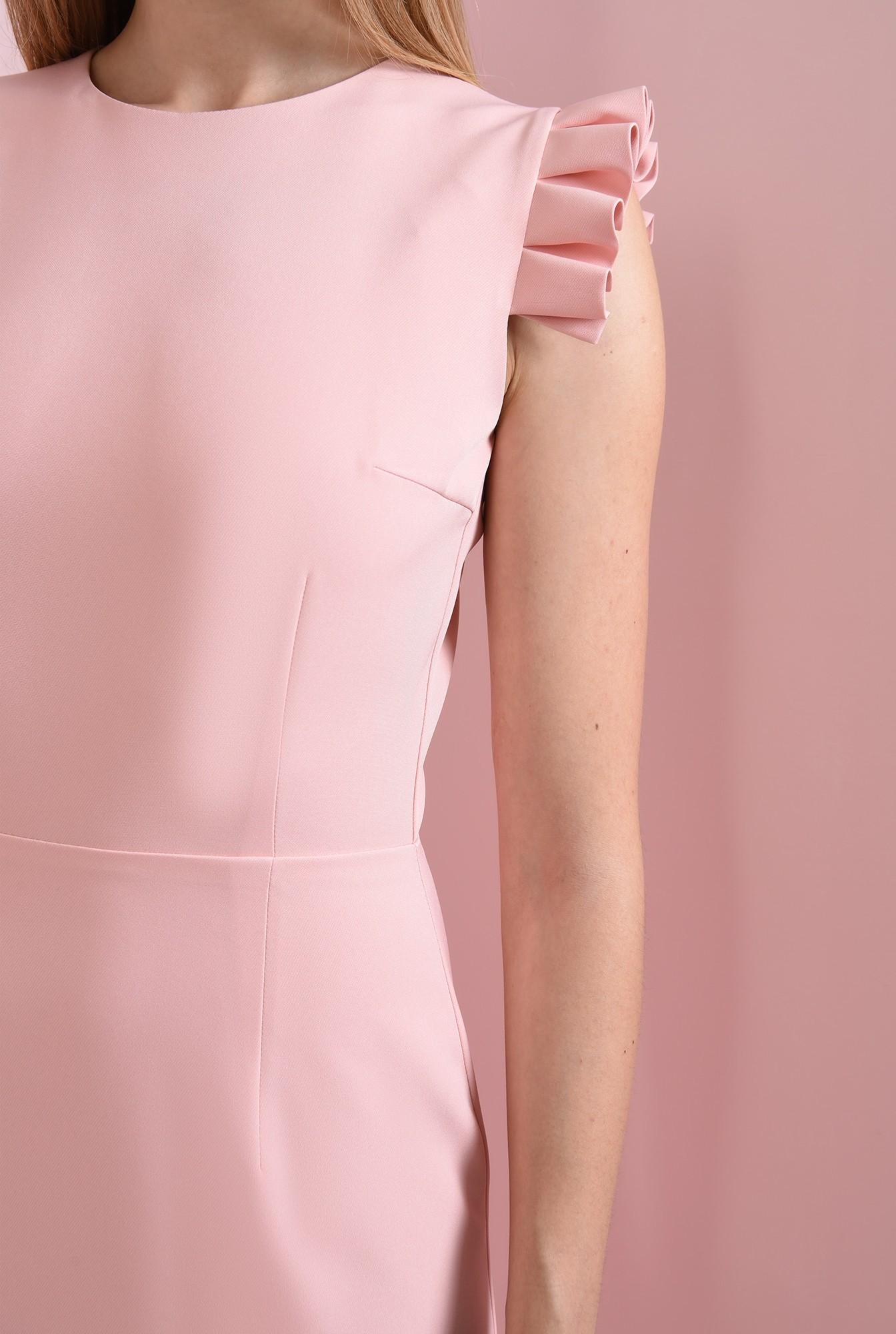 2 - rochie roz, cu volane plisate, Poema
