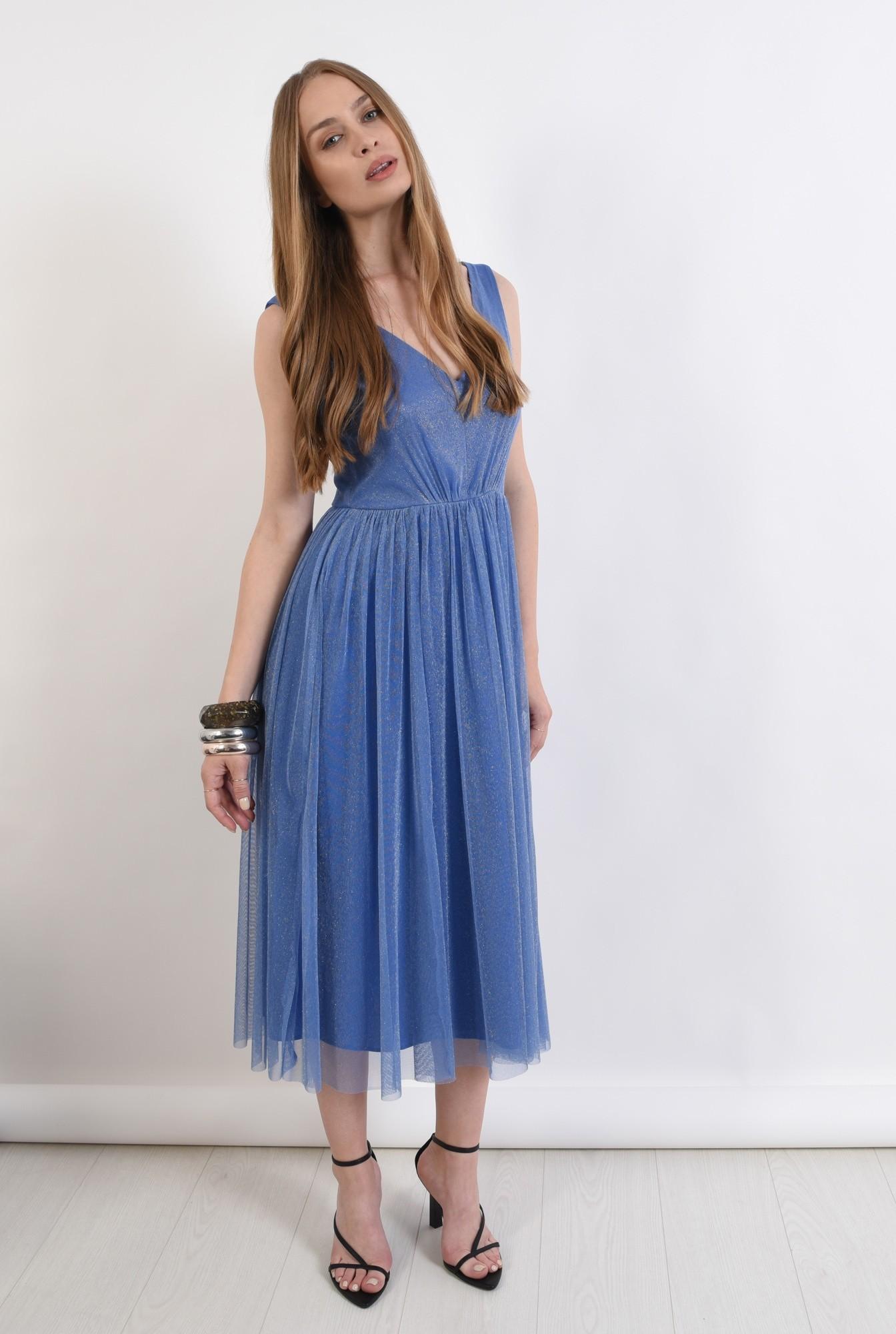 1 - rochie eleganta, bleu, Poema
