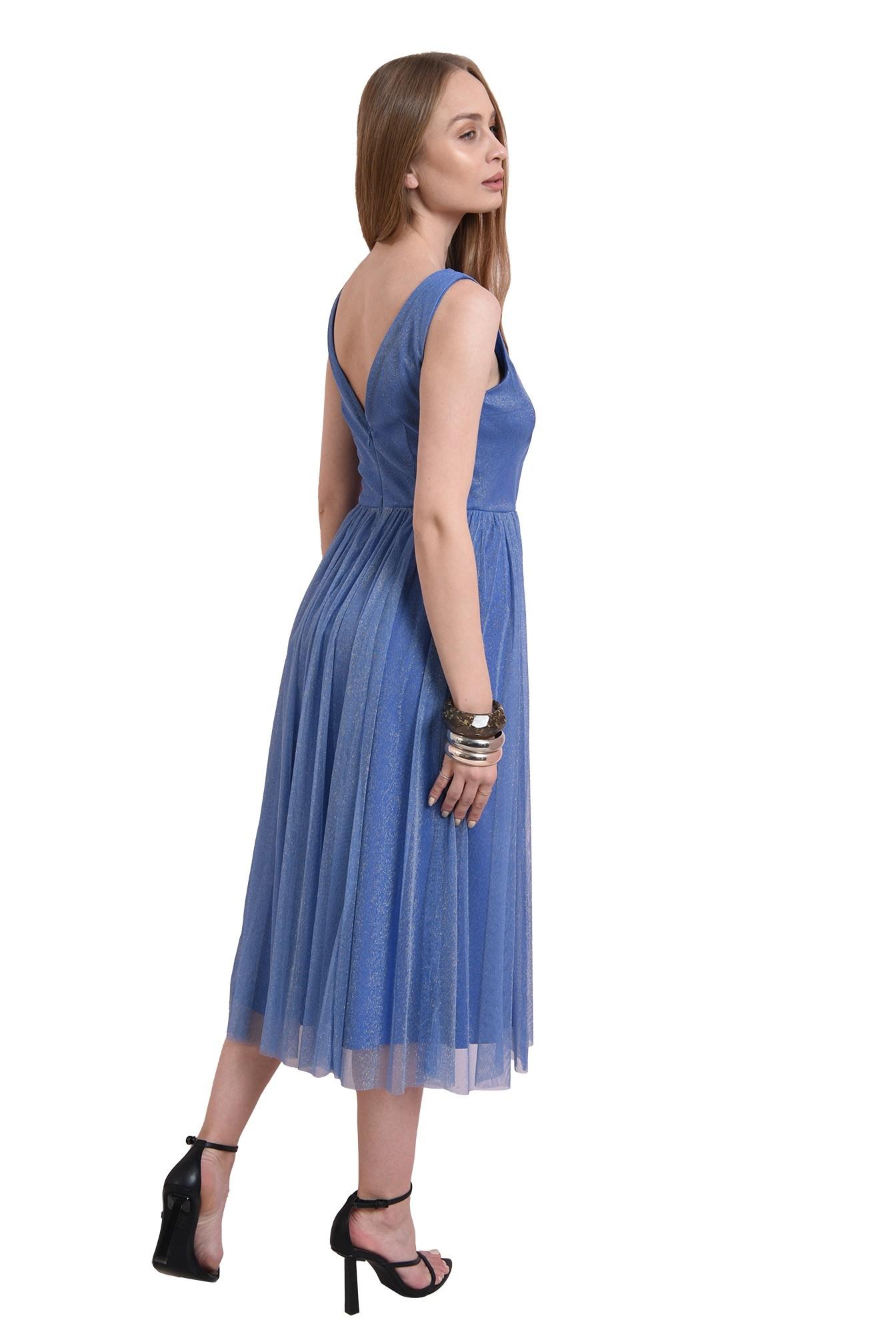3 - rochie eleganta, bleu, Poema