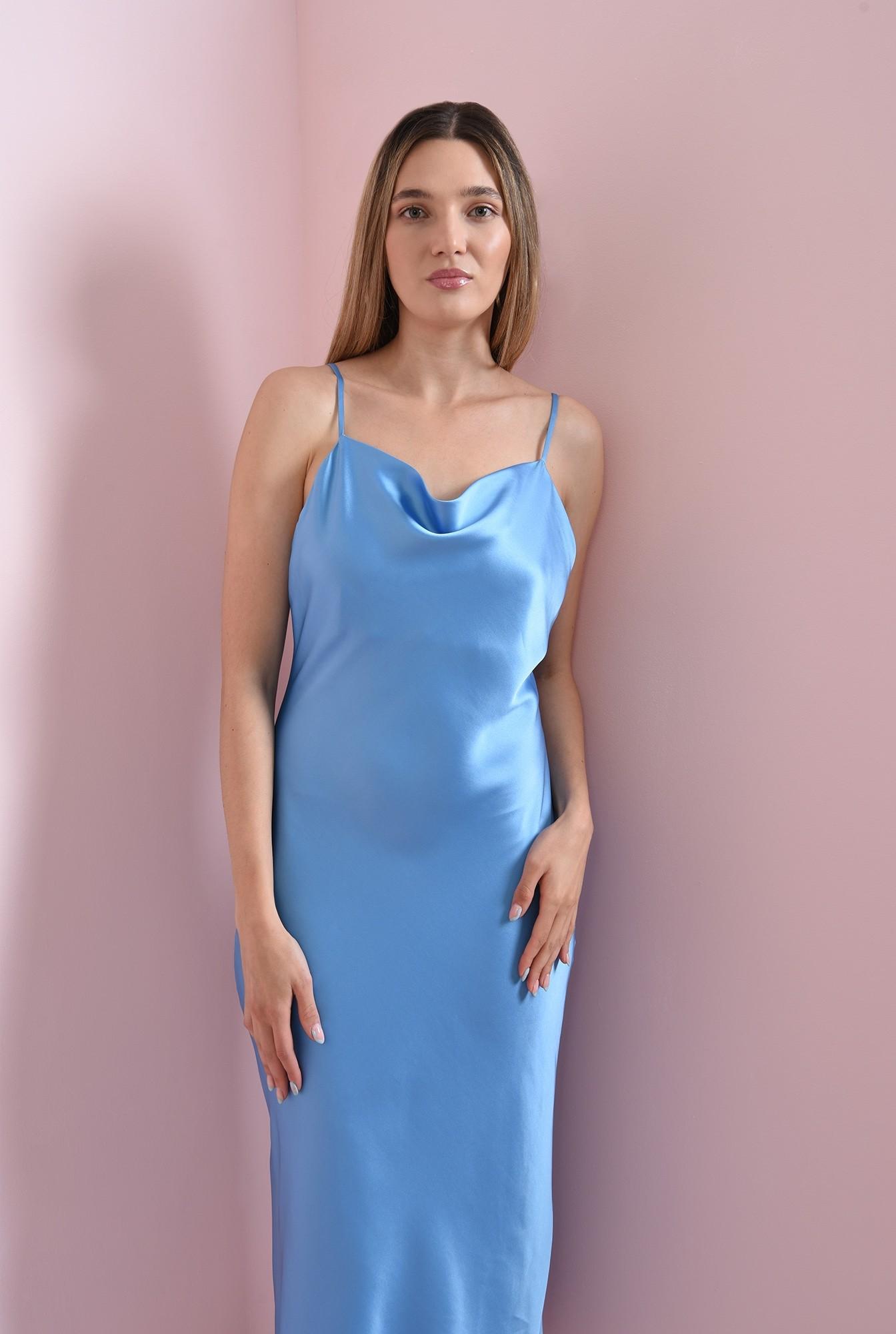 2 - rochie bleu, cu bretele subtiri, Poema