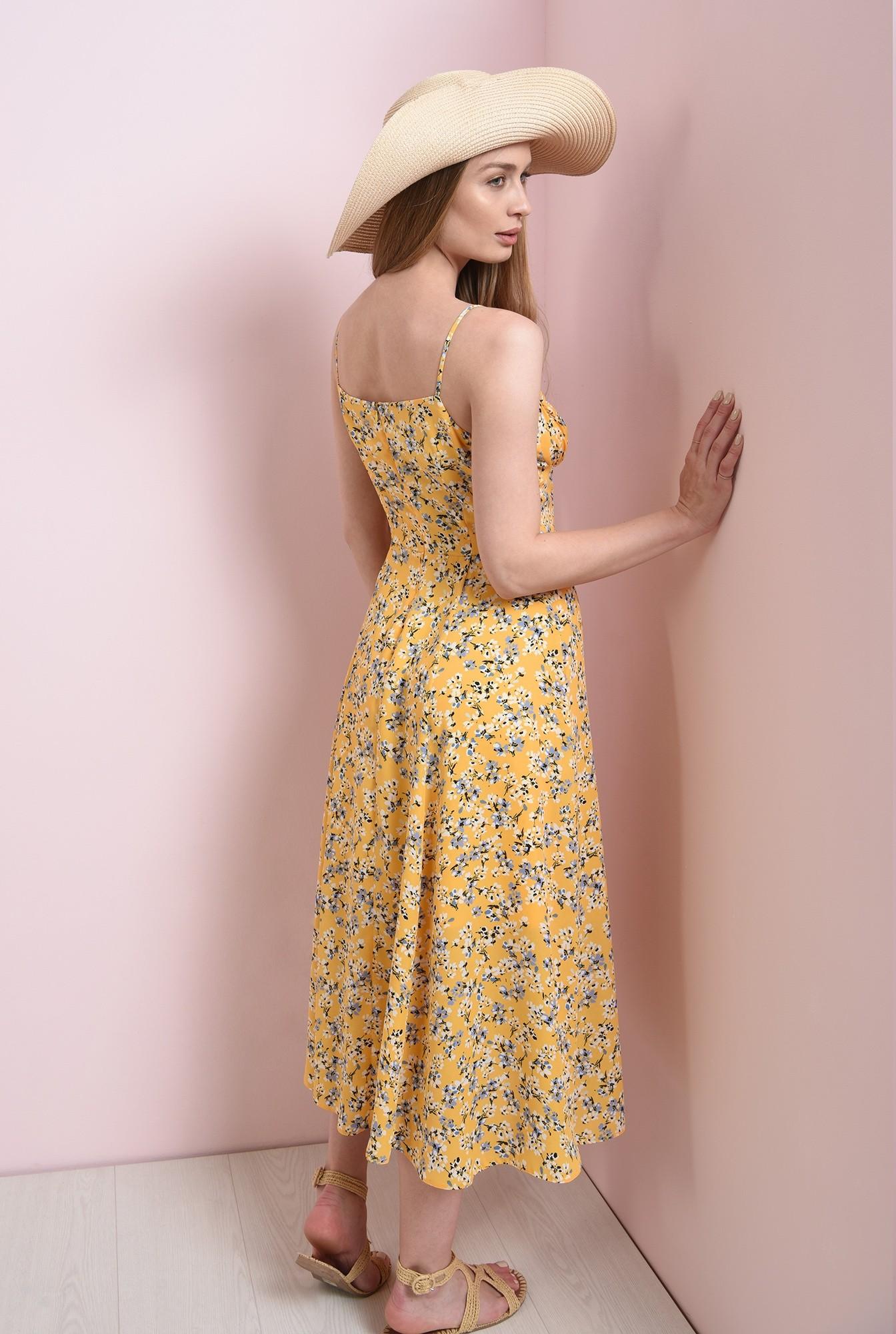 1 - rochie de vara, cu imprimeu, cu decolteu incretit