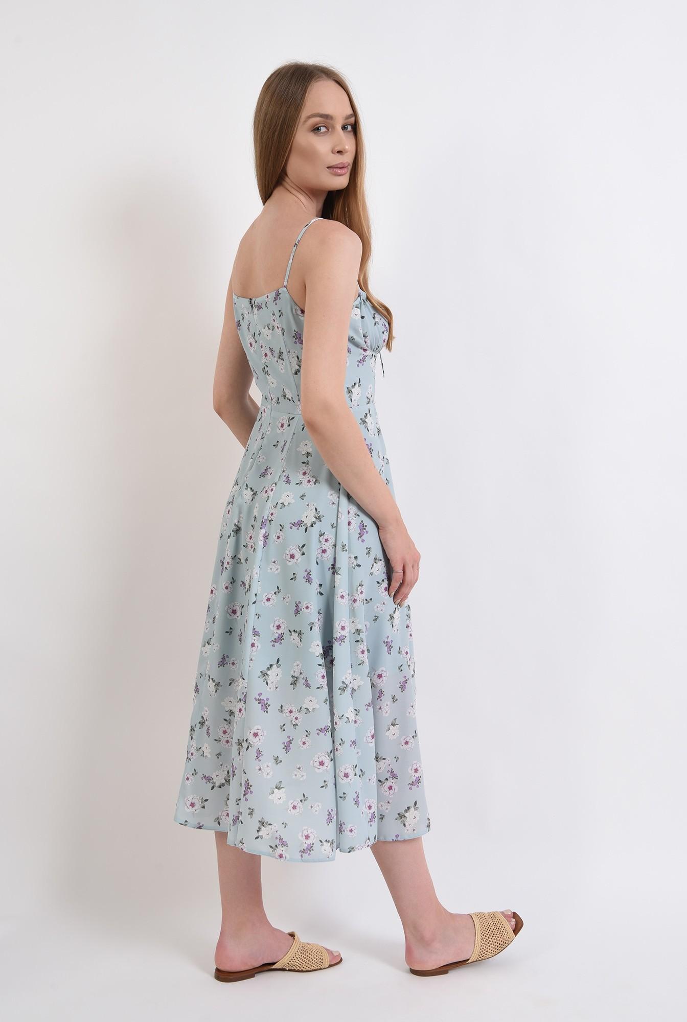2 - rochie de vara, cu print, cu bretele, Poema