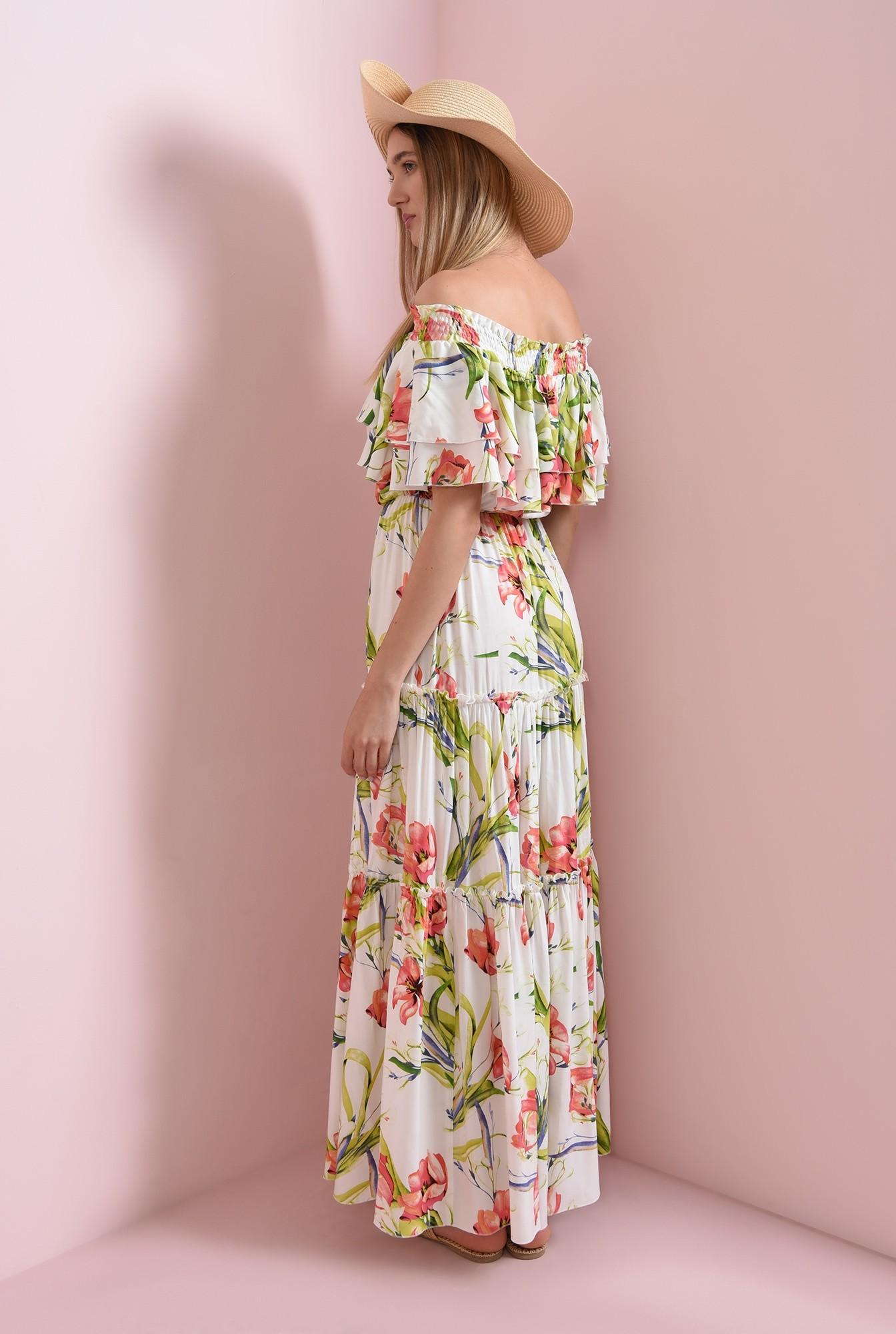 1 - rochie maxi, cu imprimeu floral