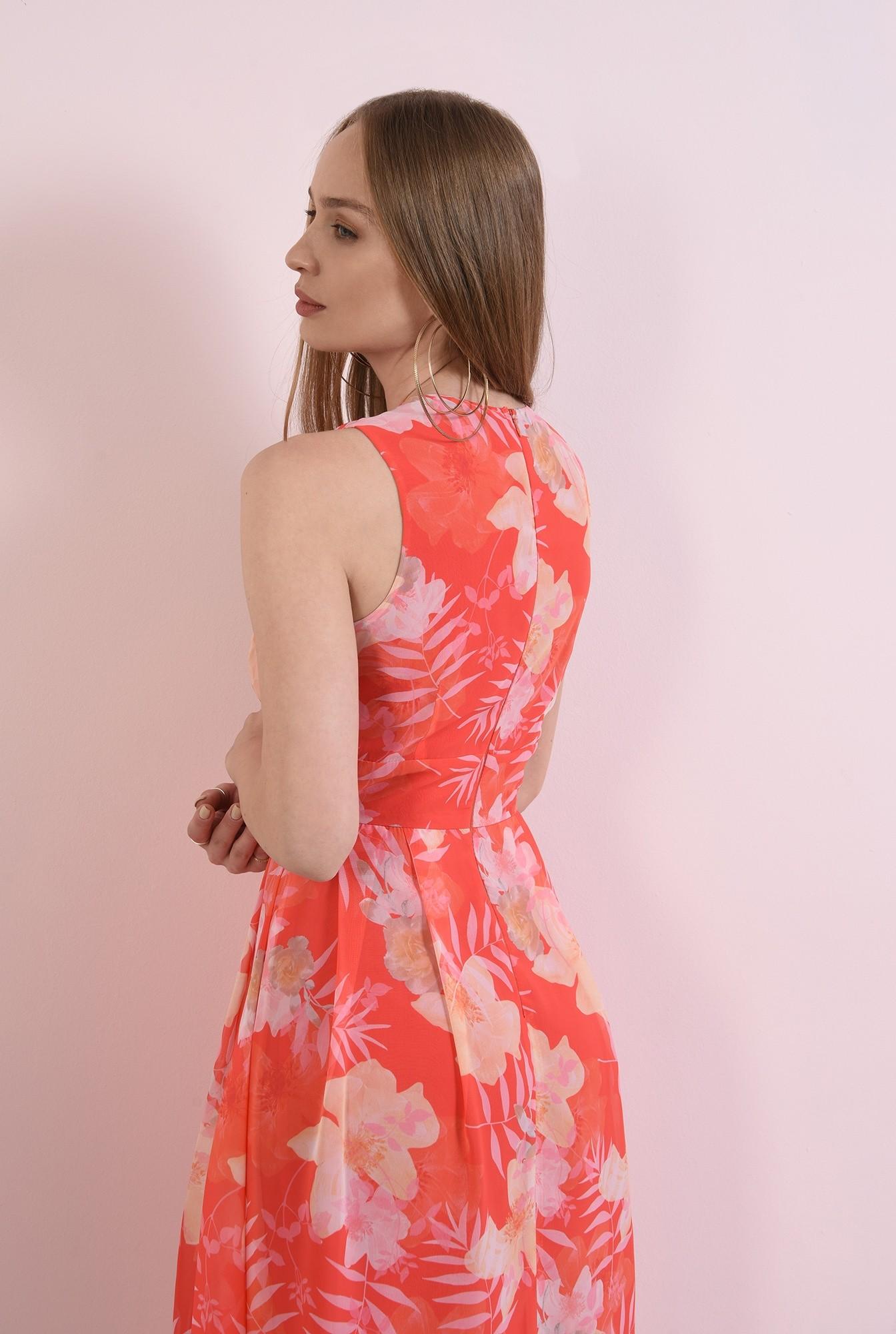 1 - rochie din voal, cu flori