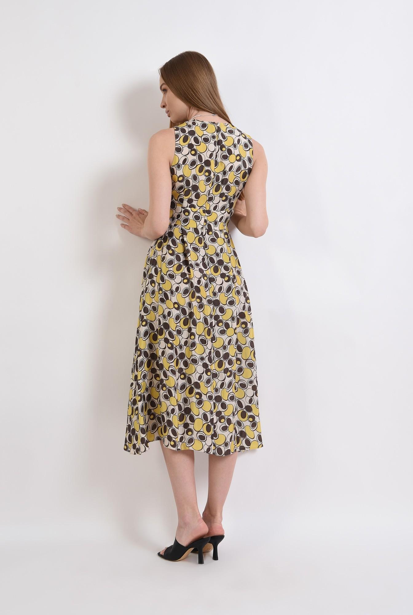 1 - rochie casual, cu print, evazata, Poema
