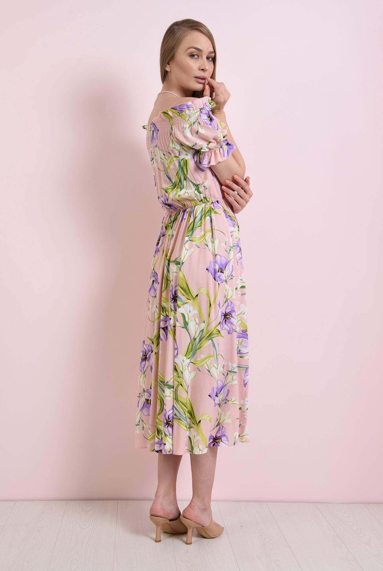 1 - rochie cu print, cu maneca scurta