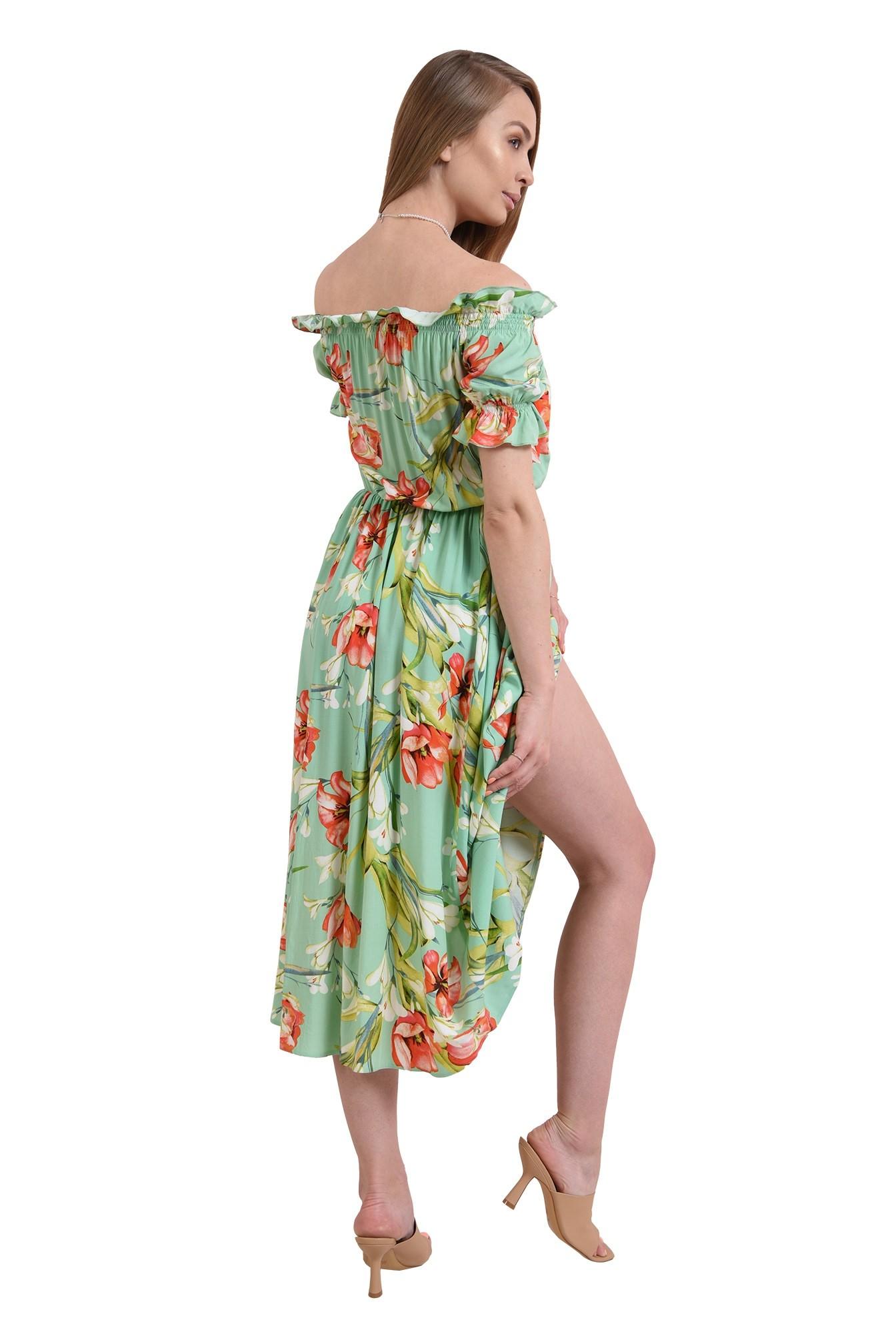 3 - rochie casual, de vara, cu print