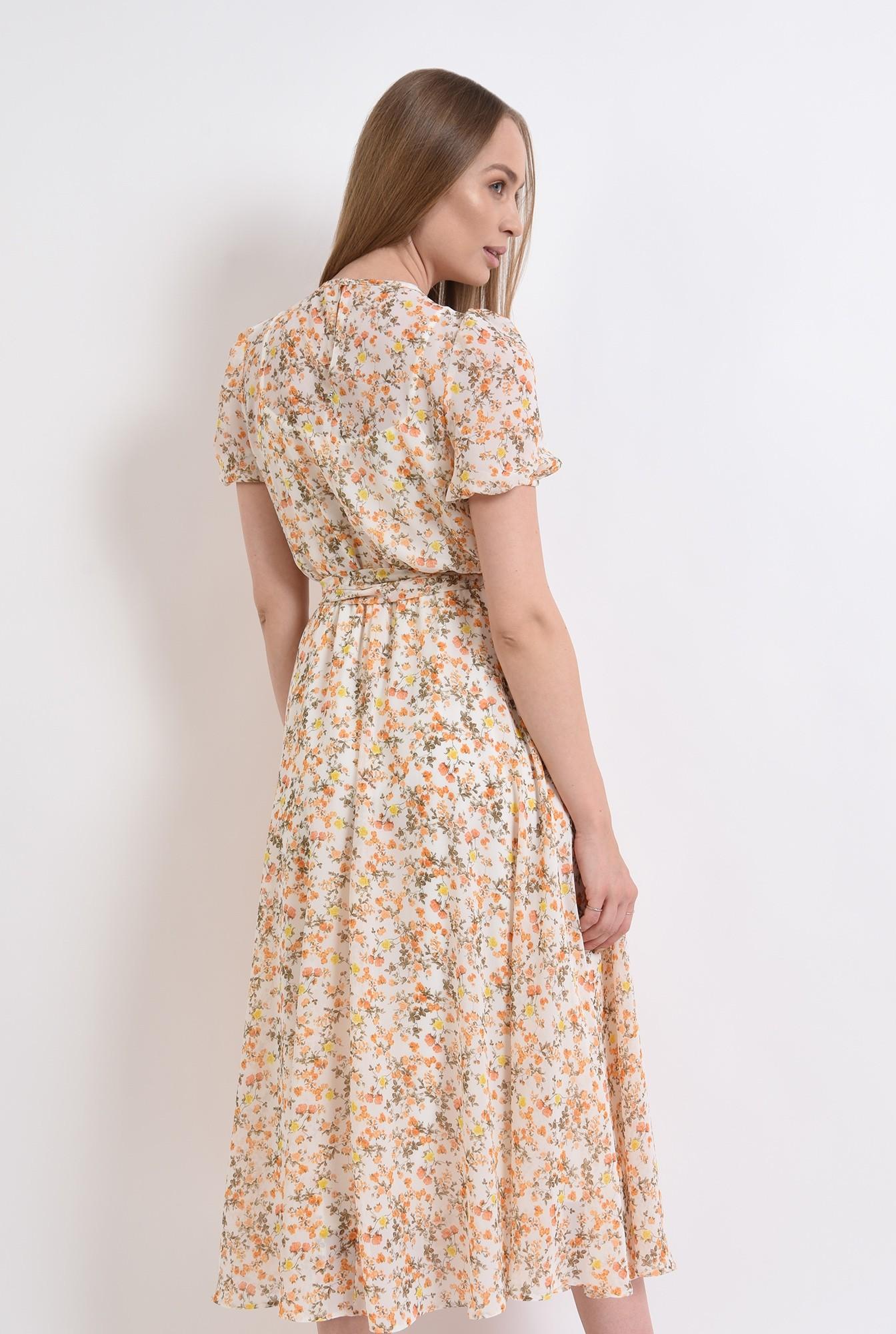 2 - rochie cu imprimeu floral, cu cordon, Poema