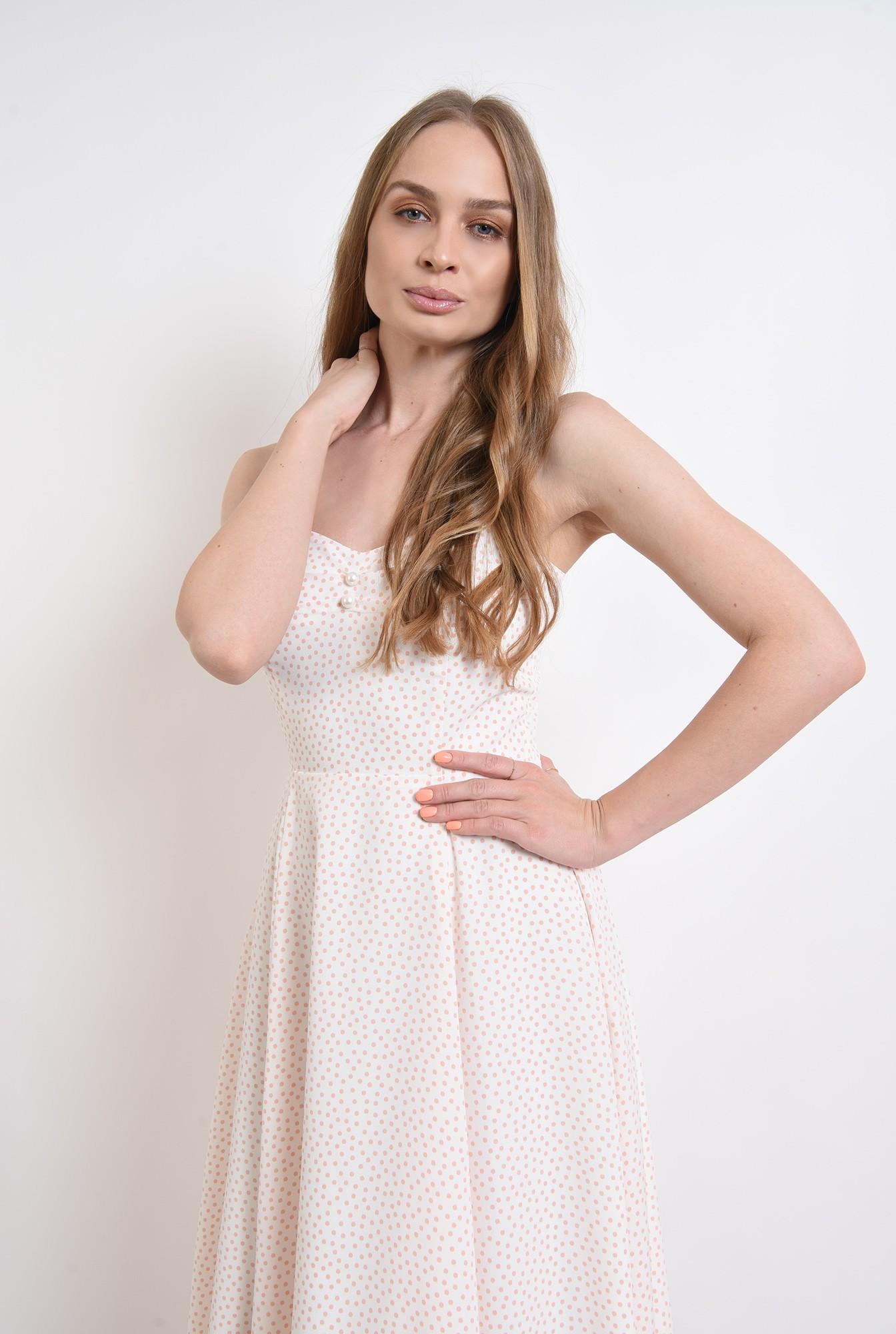 2 - rochie de vara, cu buline, evazata