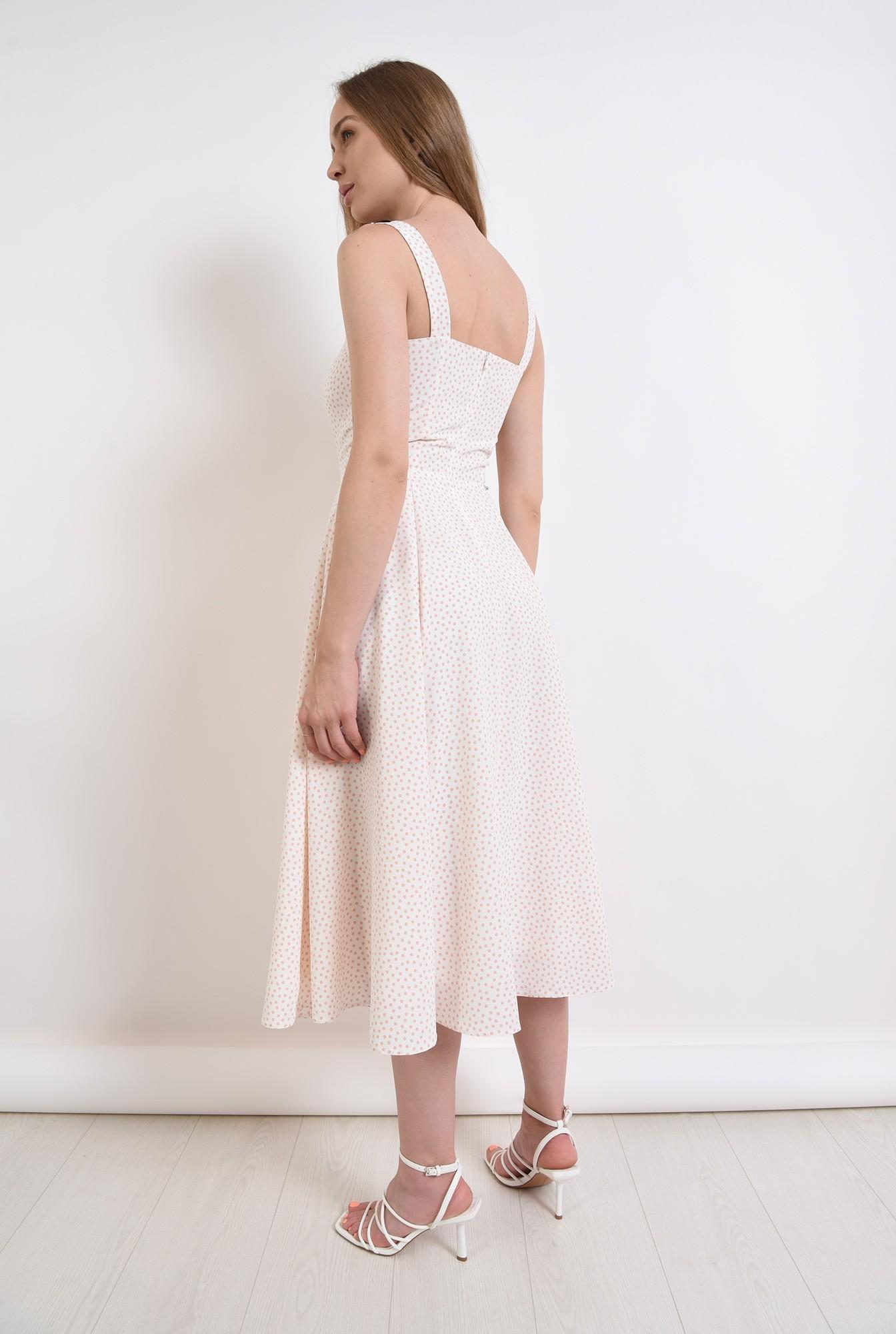 1 - rochie de vara, cu buline, evazata
