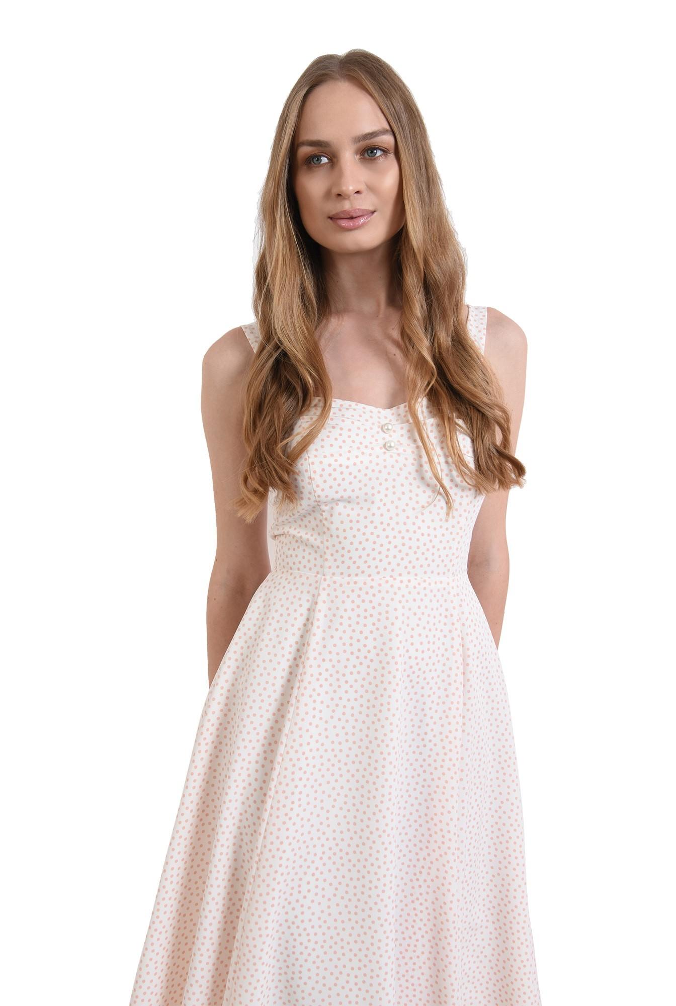 3 - rochie de vara, cu buline, evazata