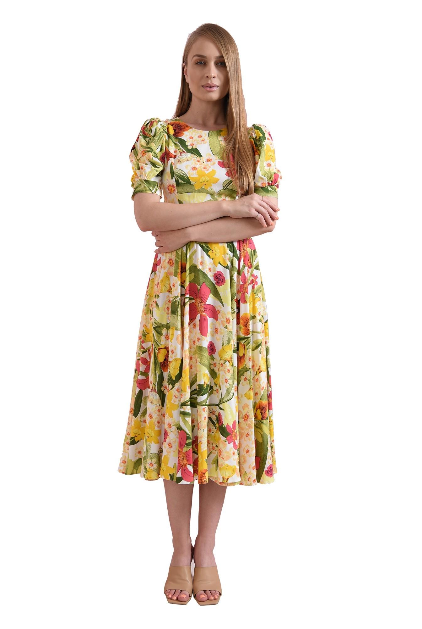 3 - rochie cu print, cu maneca scurta, Poema