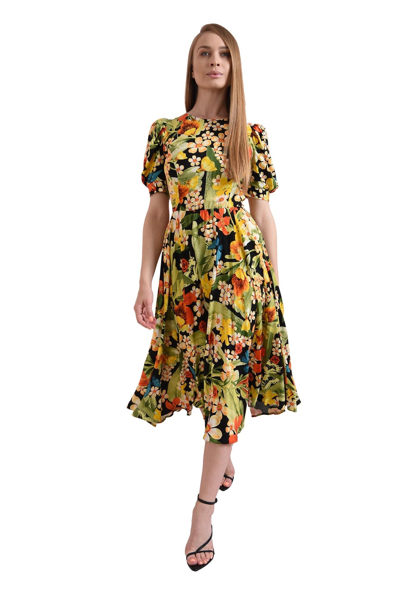 3 - rochie cu imprimeu, evazata, Poema