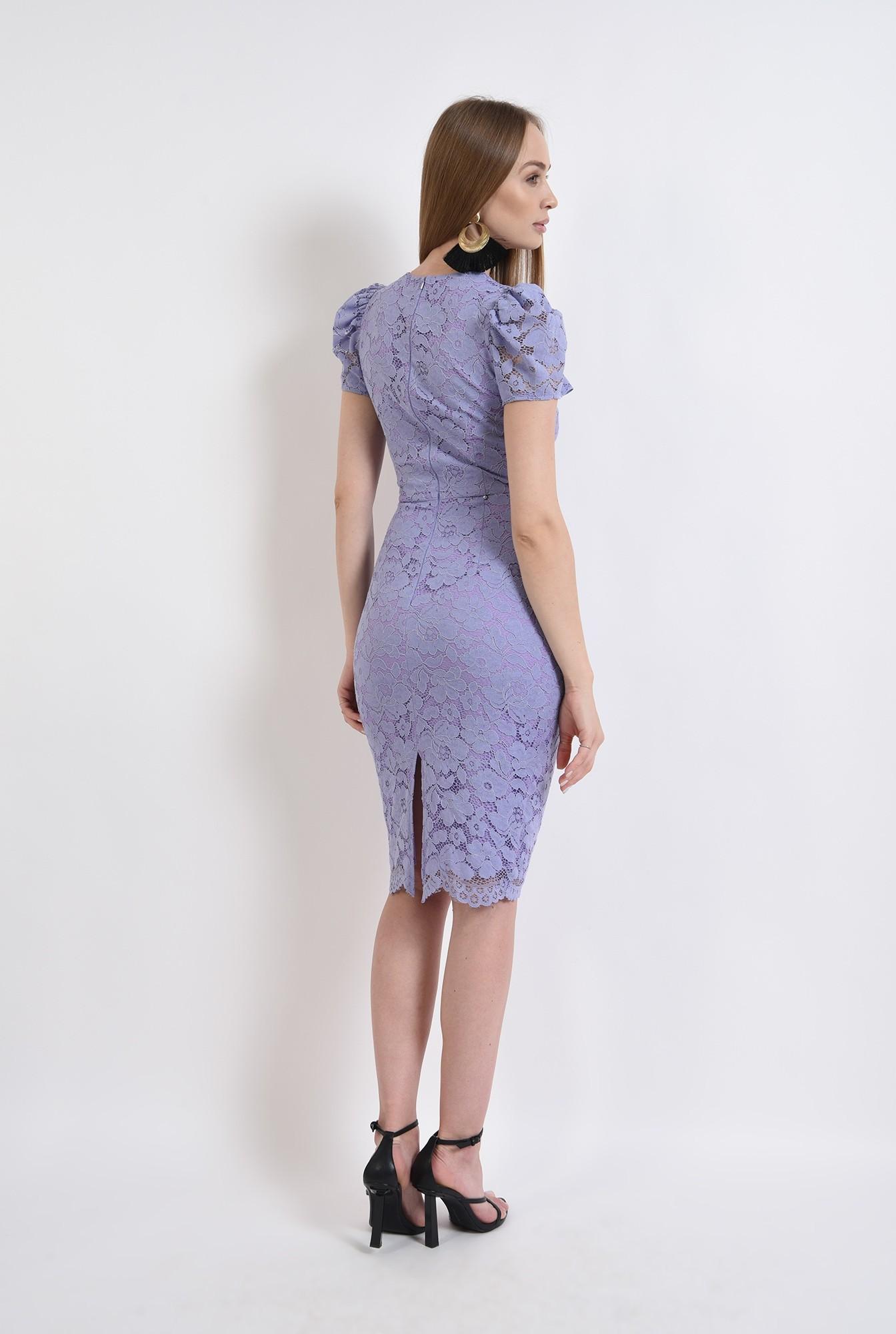 2 - rochie din dantela, eleganta, cu maneca scurta