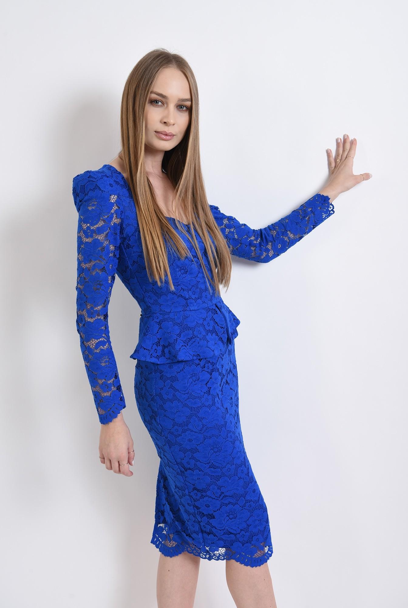 1 - 360 - rochie albastra, eleganta, din dantela