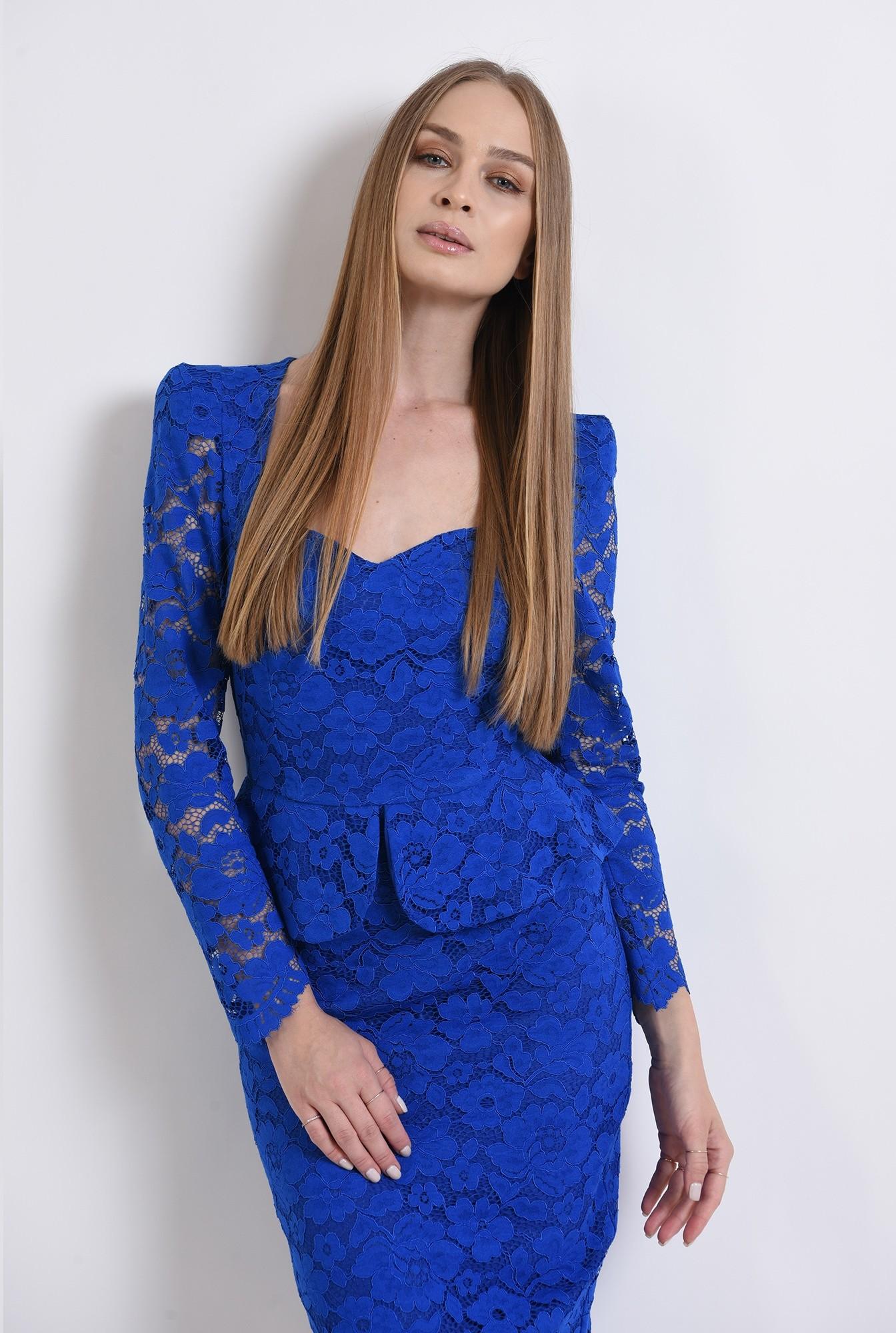 3 - 360 - rochie albastra, eleganta, din dantela